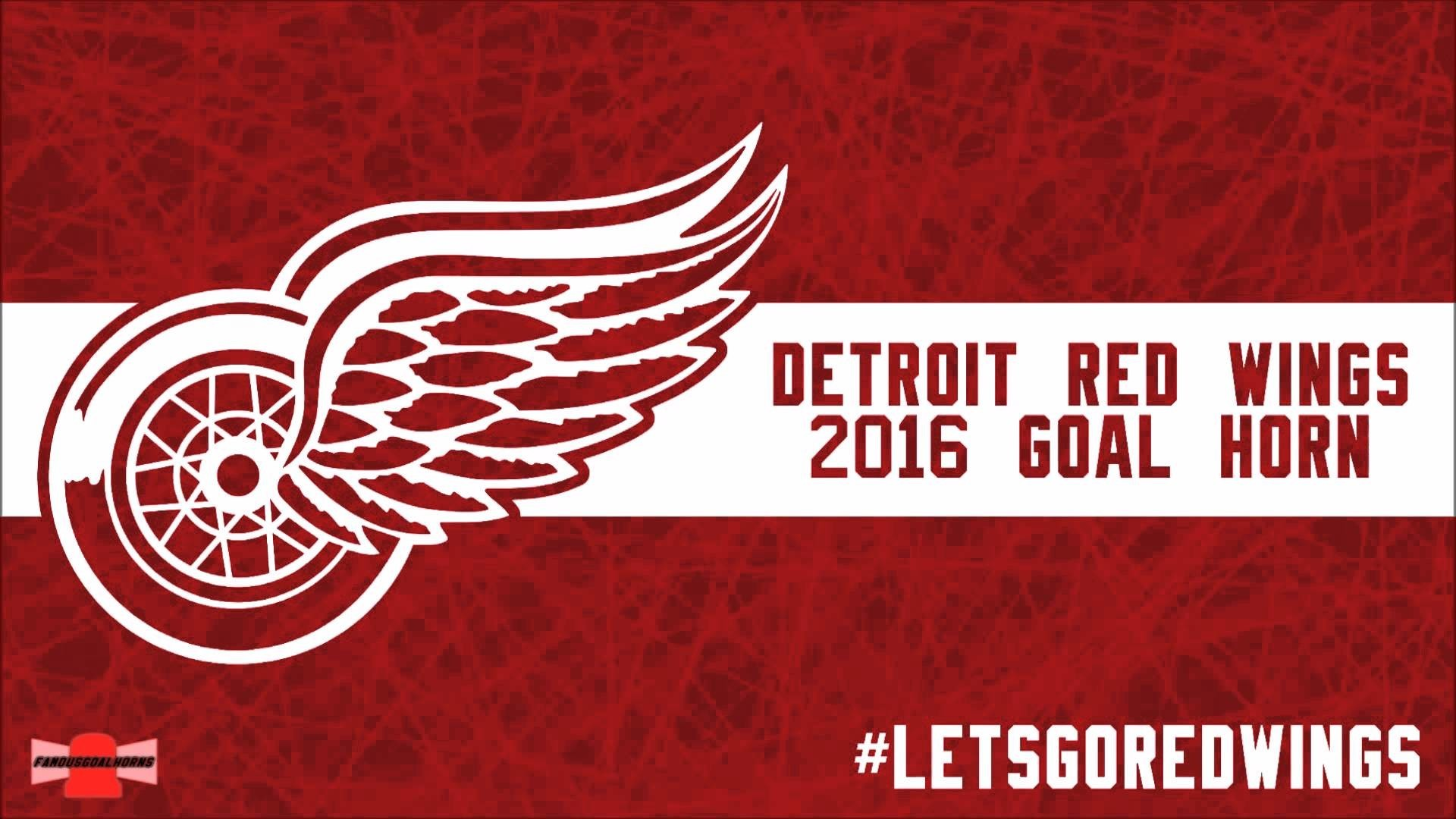 1920x1200 Detroit Red Wings Wallpaper Logo On The Ice