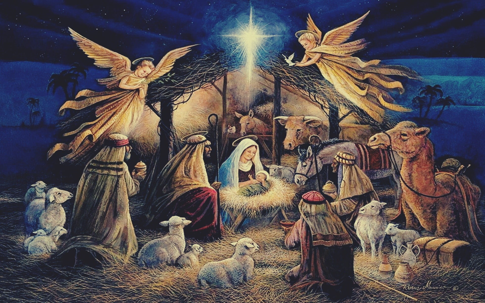 nativity scene wallpapers  60  background pictures