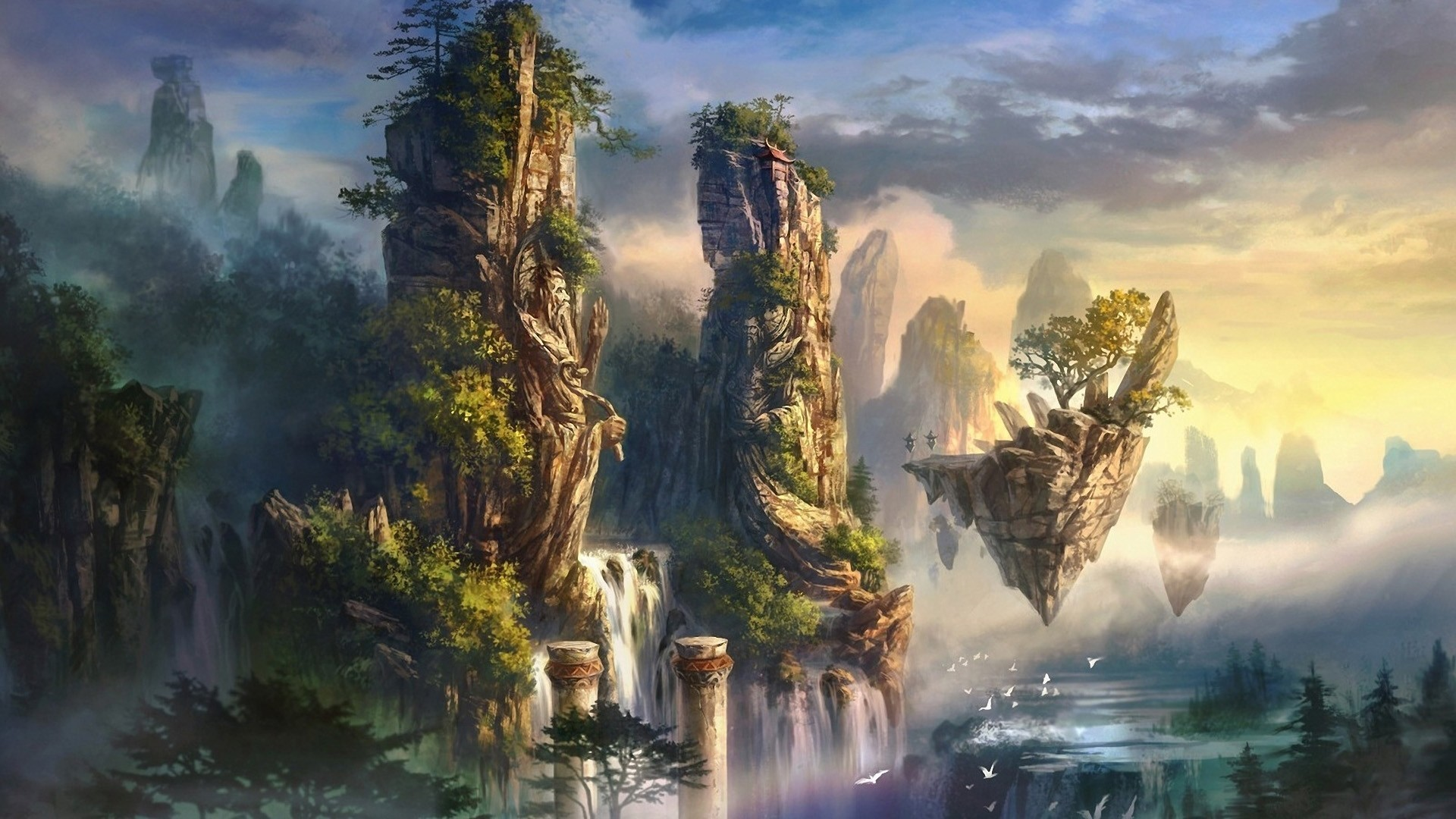 Fantasy art wallpapers 72 background pictures - Art village wallpaper ...