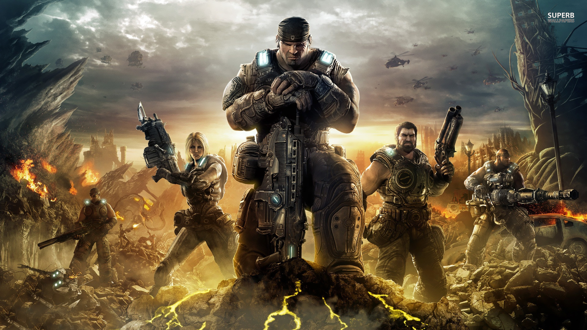 Gears Of War 3 Wallpapers Hd 74 Background Pictures