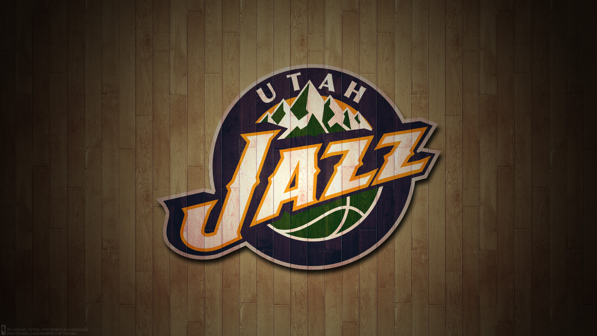 1920x1080 Utah Jazz 2017 nba basketball team logo hardwood wallpaper free for mac and desktop pc