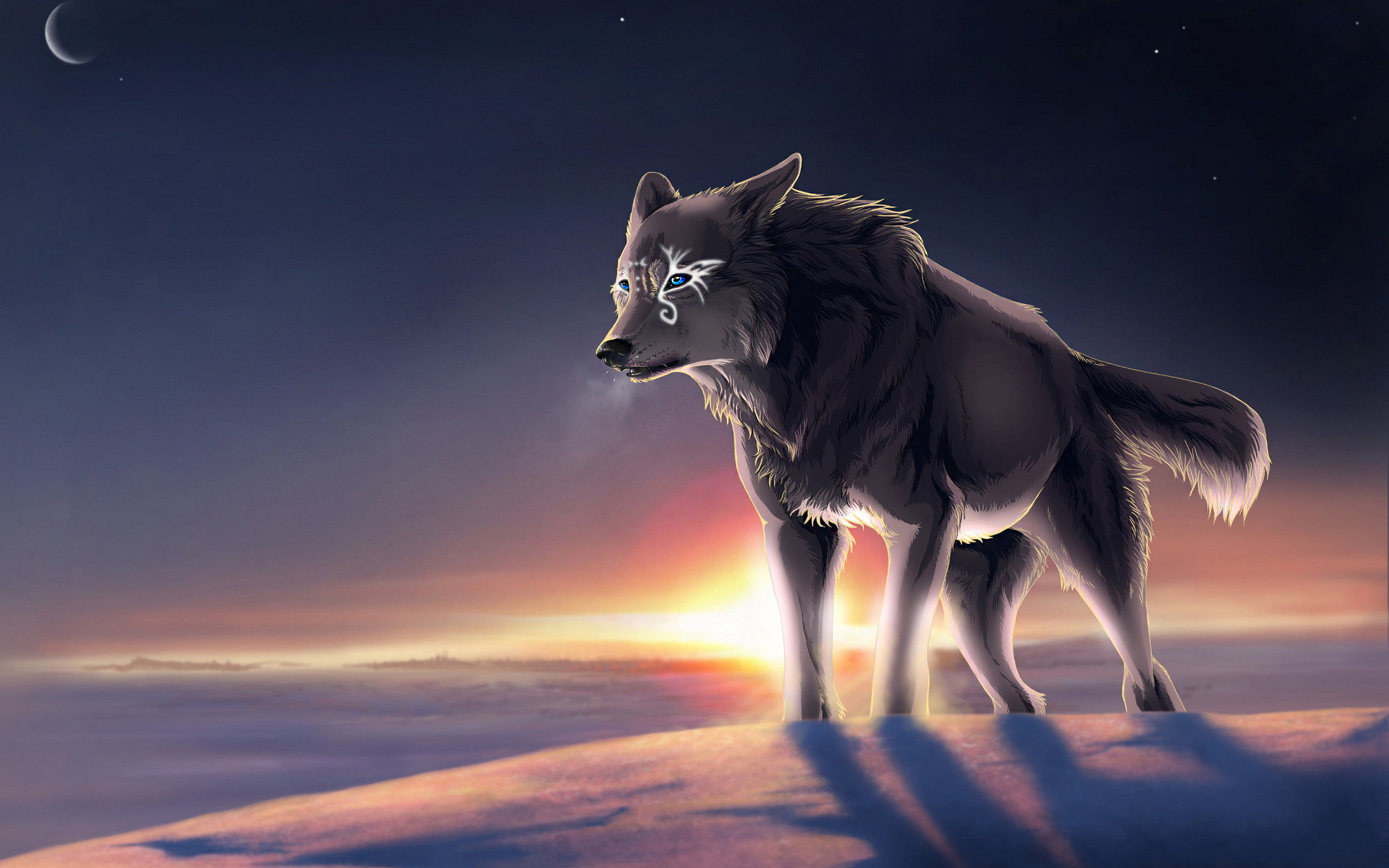 3293x1752 Dark Wolf Wallpapers Wallpaper HD Pinterest