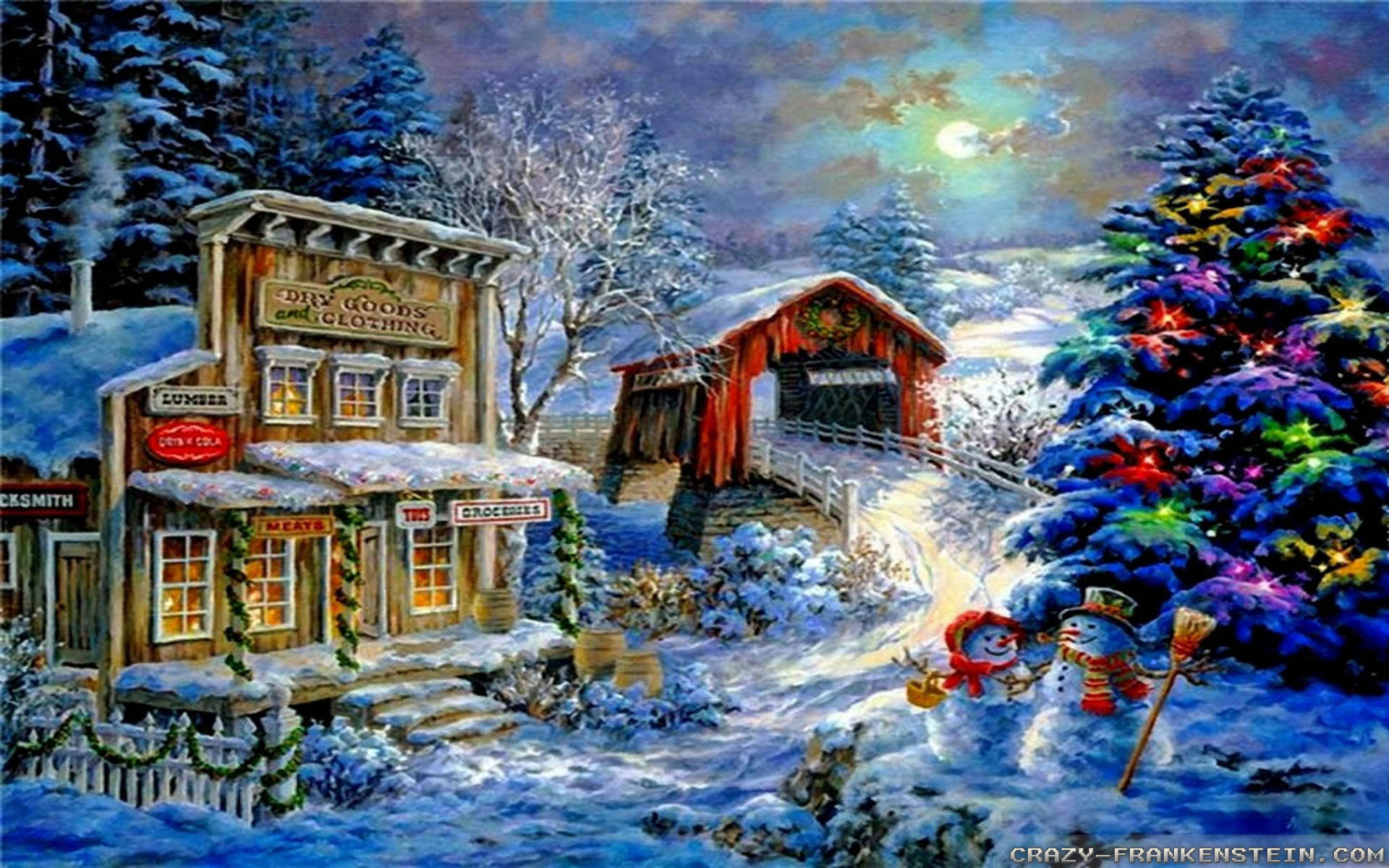 Christmas Wallpaper 4k.Christmas Scenes Wallpapers 46 Background Pictures