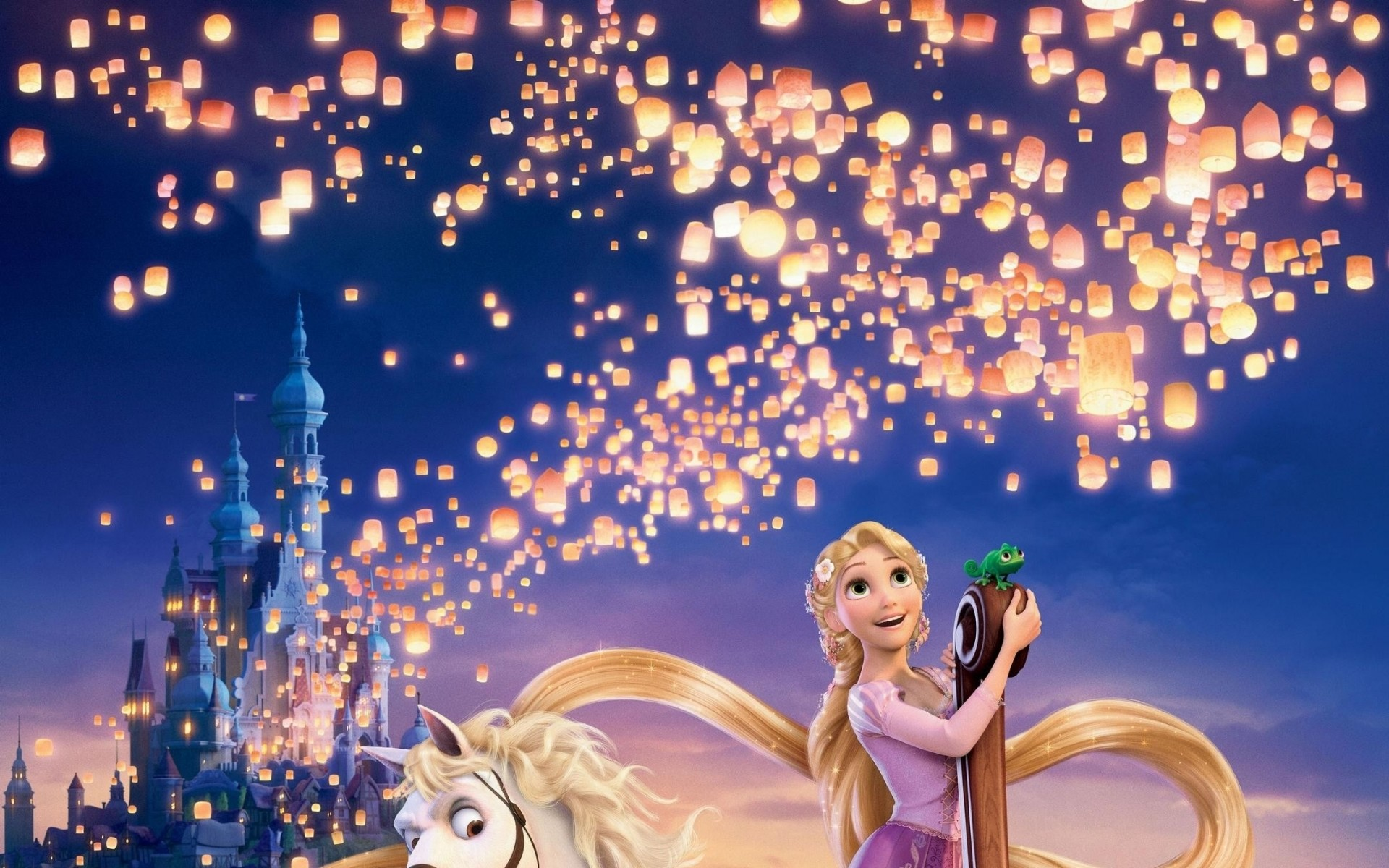 Disney Tangled Wallpapers For Desktop Laptop And Mobiles Here You With 35 Amazing Sky Lanterns Wallpaper
