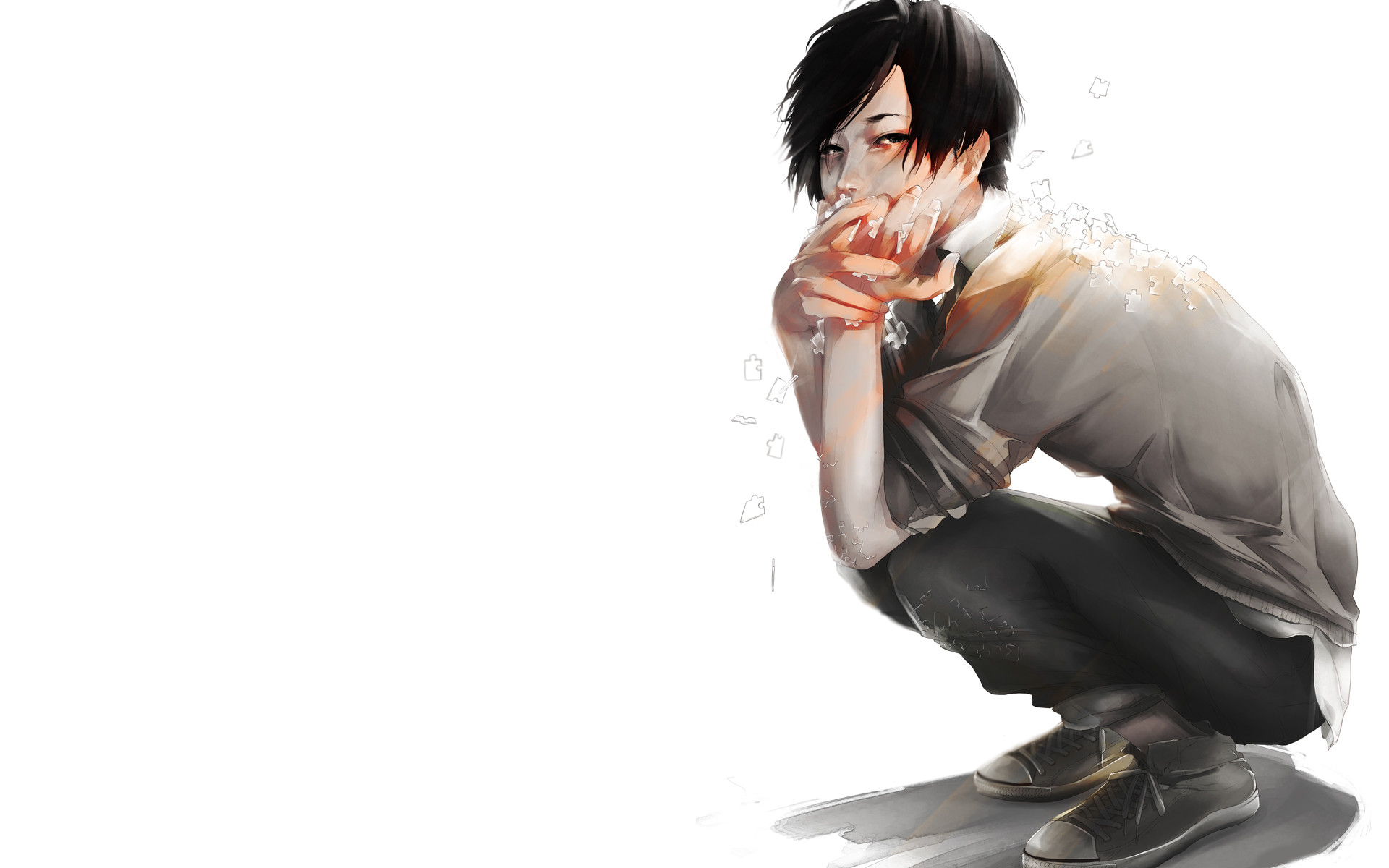 Sad Anime Boy Wallpapers 67 Background Pictures