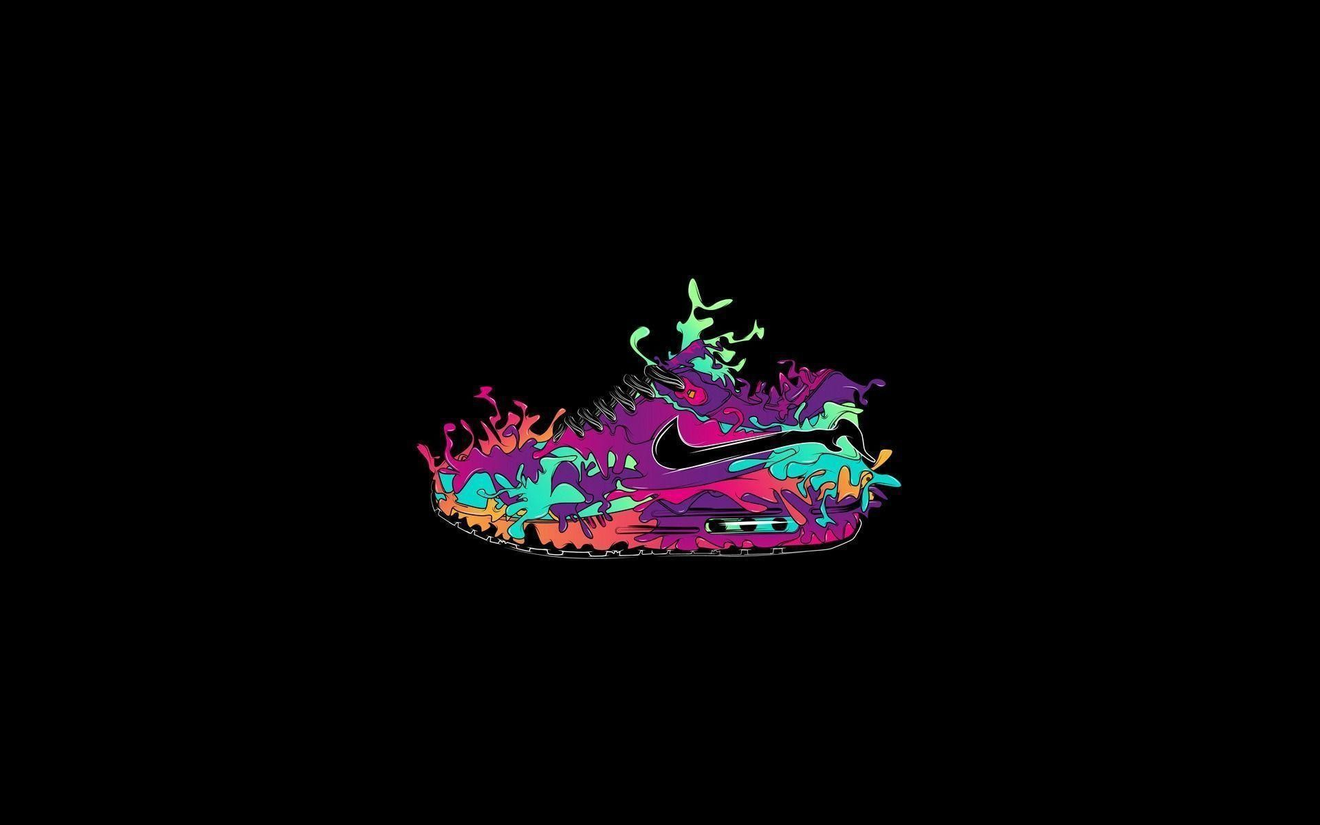 1920x1200 Art Colored Nike Shoes Wallpaper Backgrounds