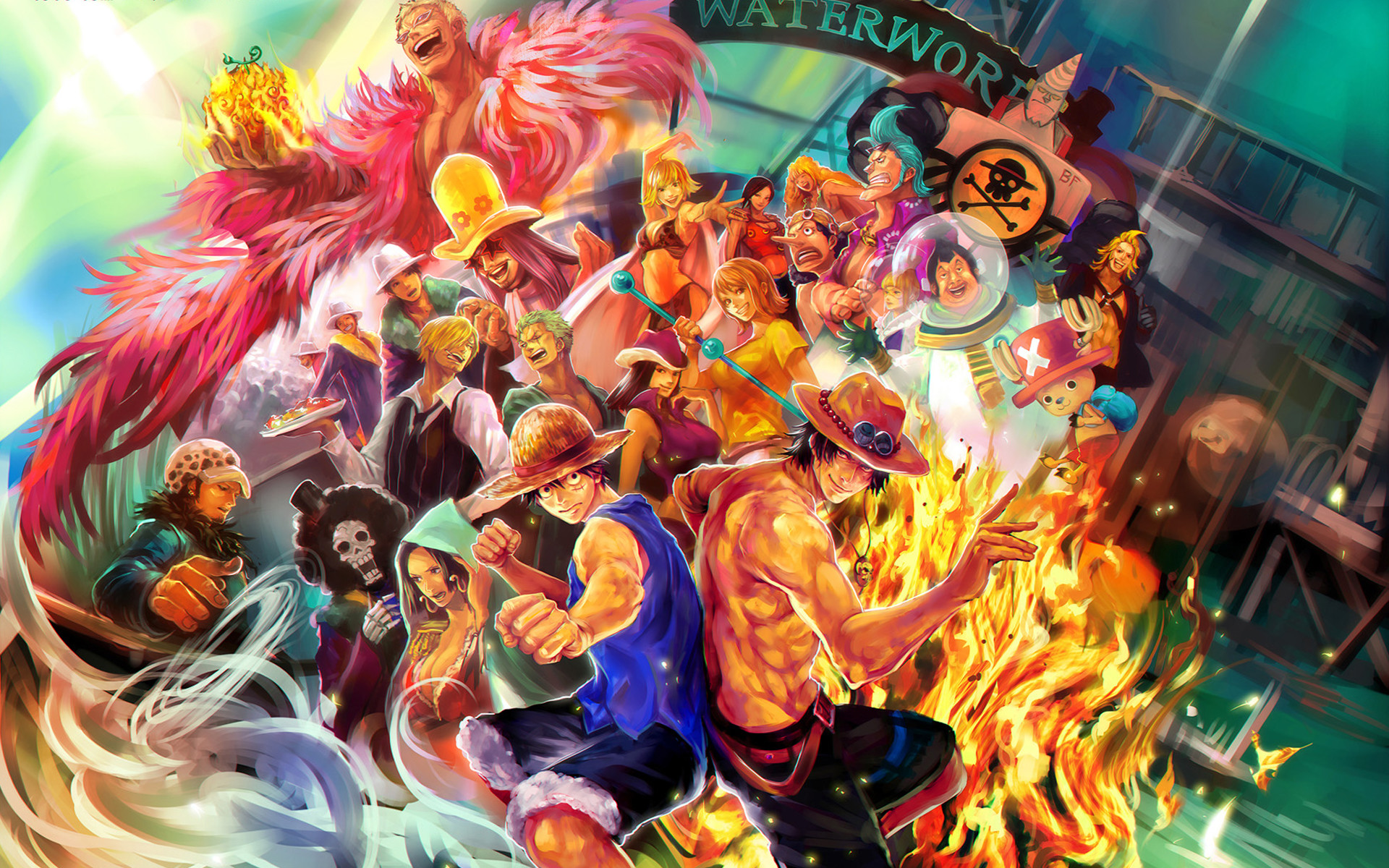 Wallpapers One Piece 2018 Nami And Law 80 Background Pictures