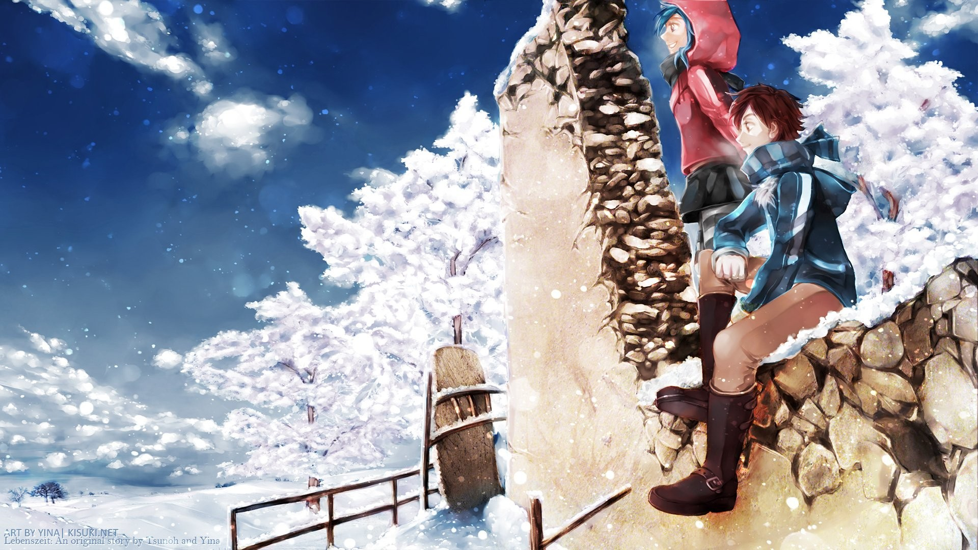 Winter anime wallpapers 70 background pictures - Winter anime girl wallpaper ...