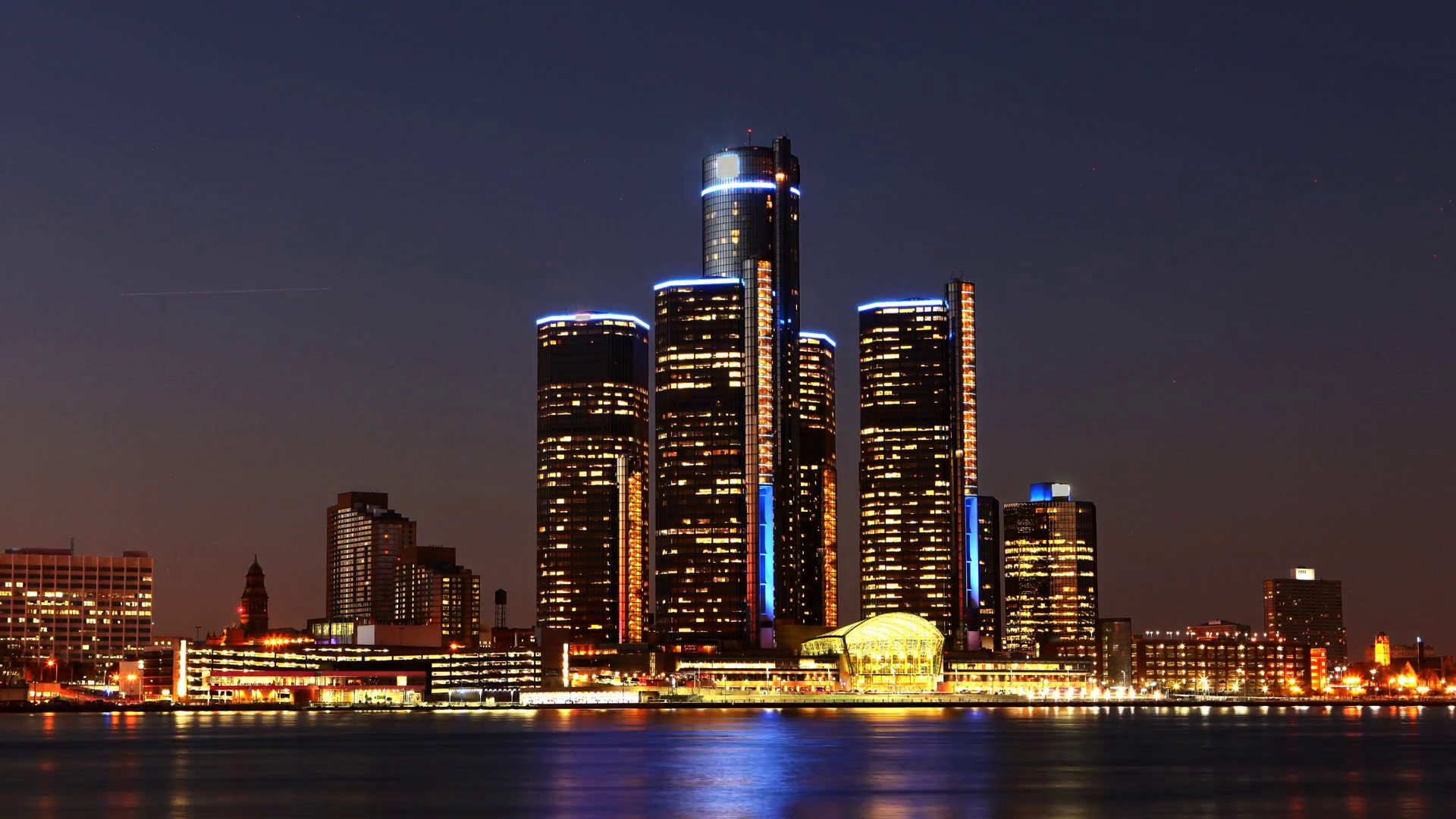 Detroit skyline wallpapers 73 background pictures - Skyline night wallpaper ...