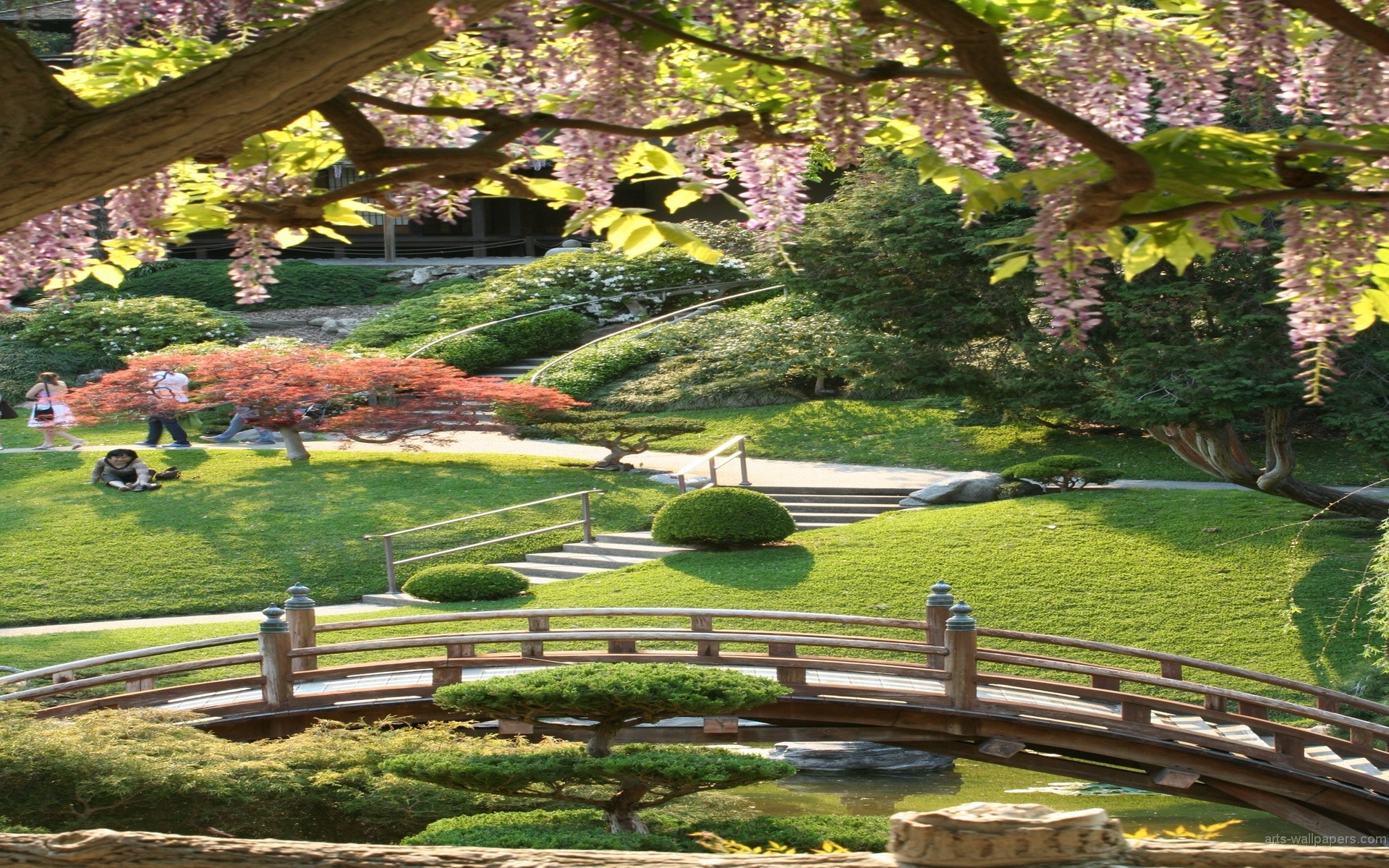 1920x1200 Japanese Garden Desktop Wallpaper Wallpapersafari With Background
