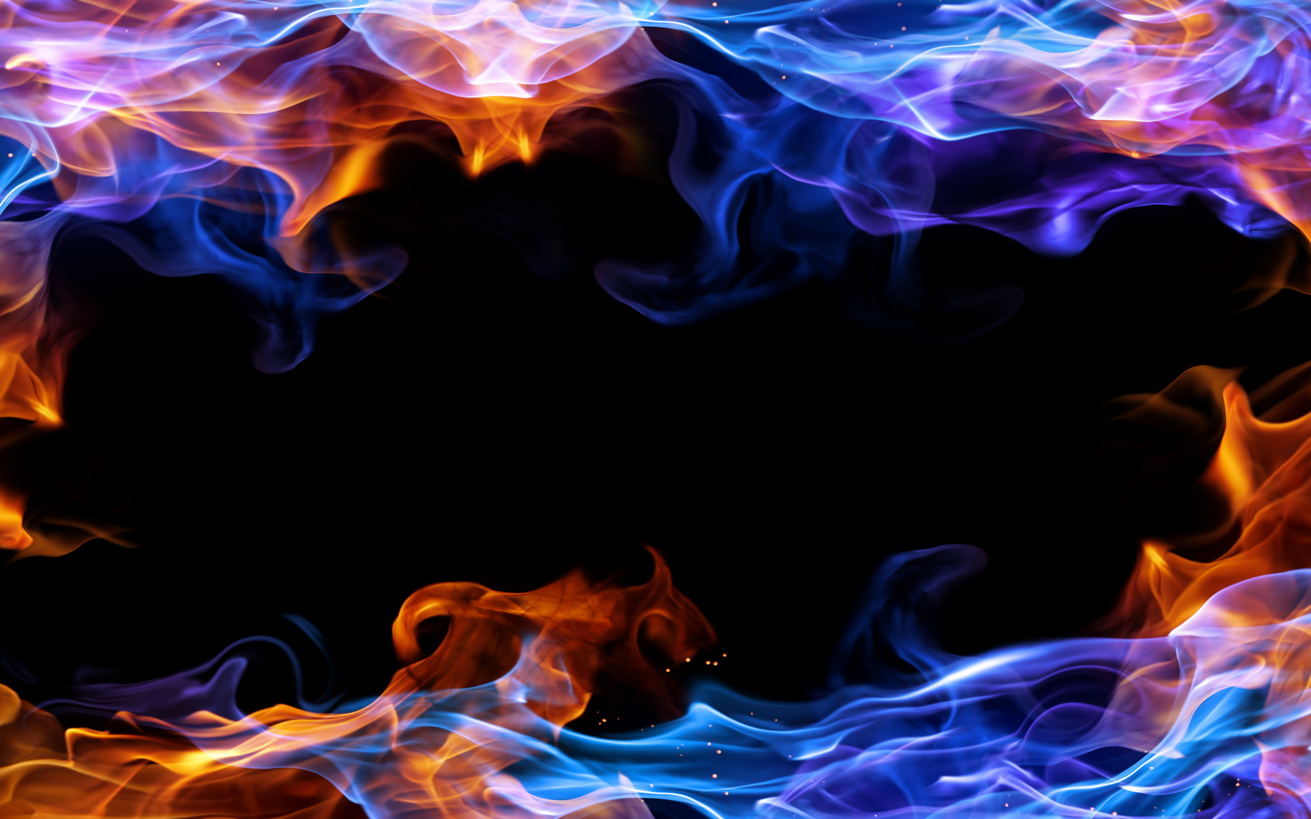 2560x1600 High Resolution Images Collection Red And Blue Fire Wallpaper By Edmund Pinkerton