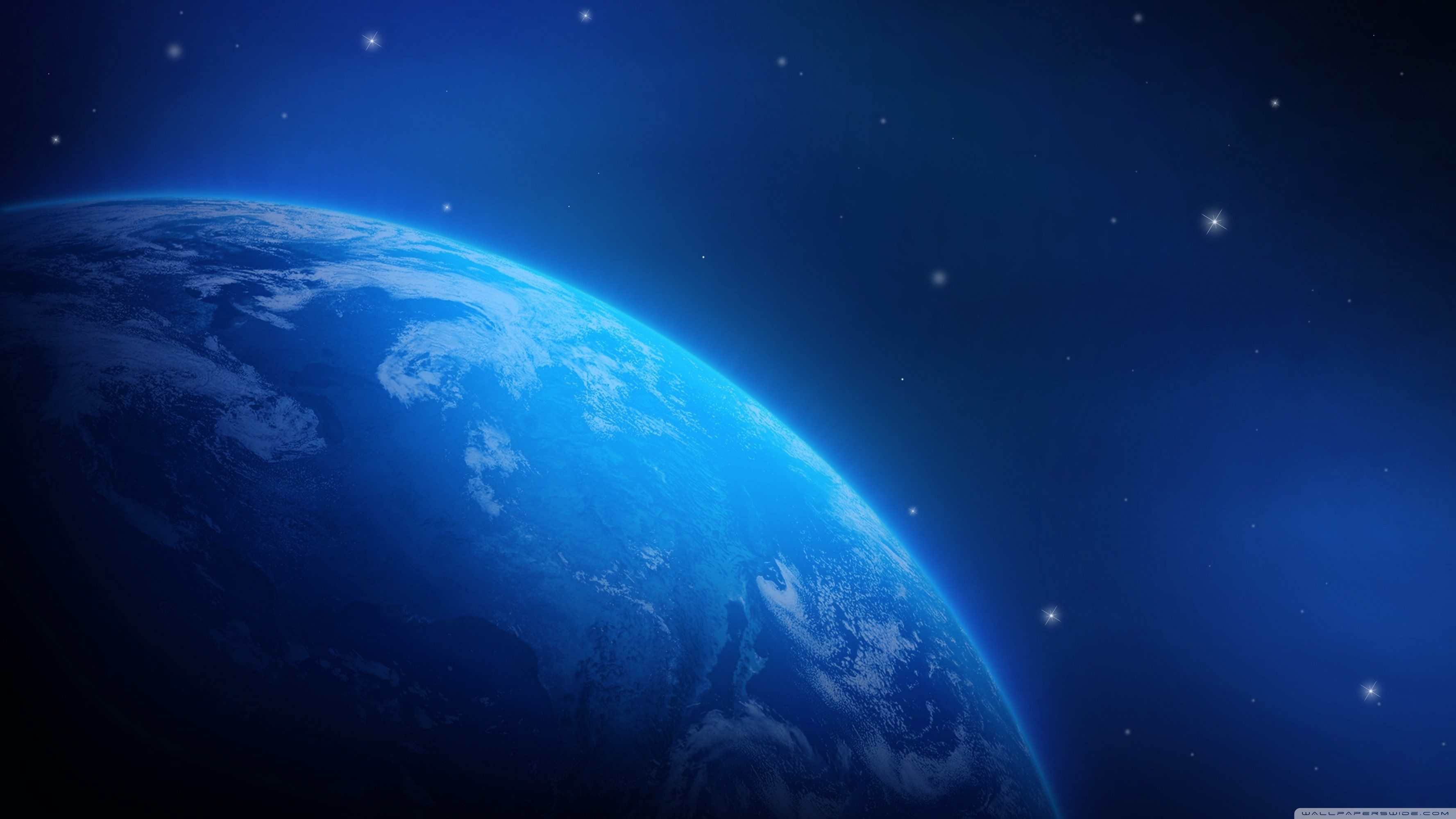 3554x1999 Blue Planet Wallpaper