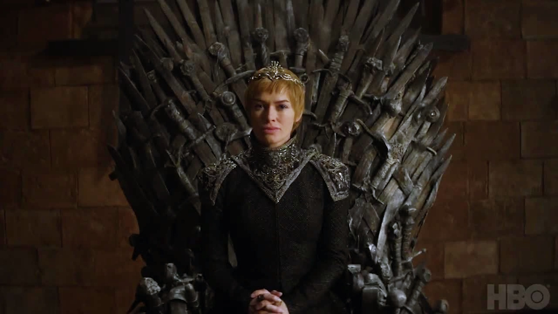 1920x1080 Cersei Lannister Game Of Thrones Season 7 Sitting On Throne Wallpaper 14761