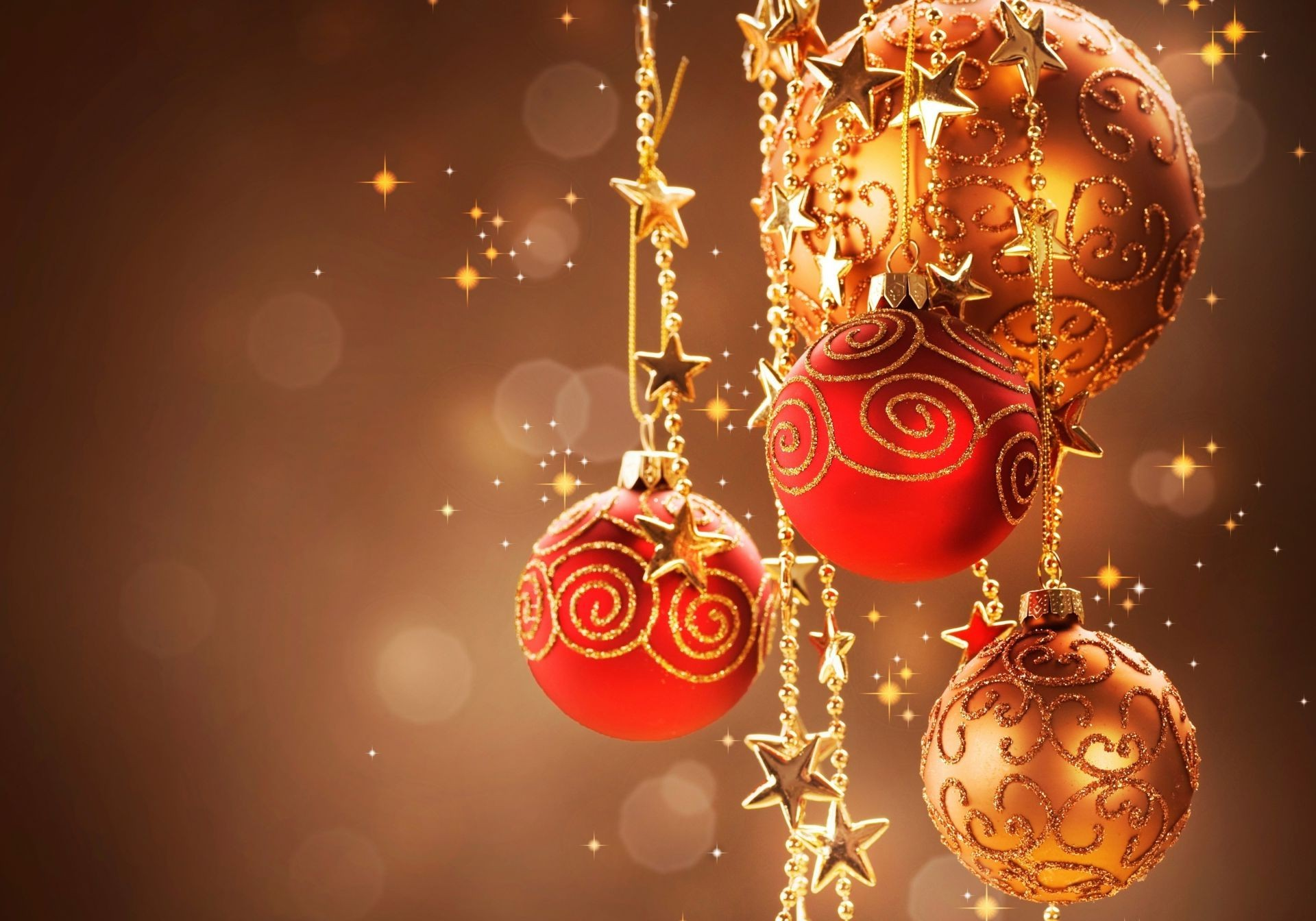 1920x1200 christmas ball wallpaper