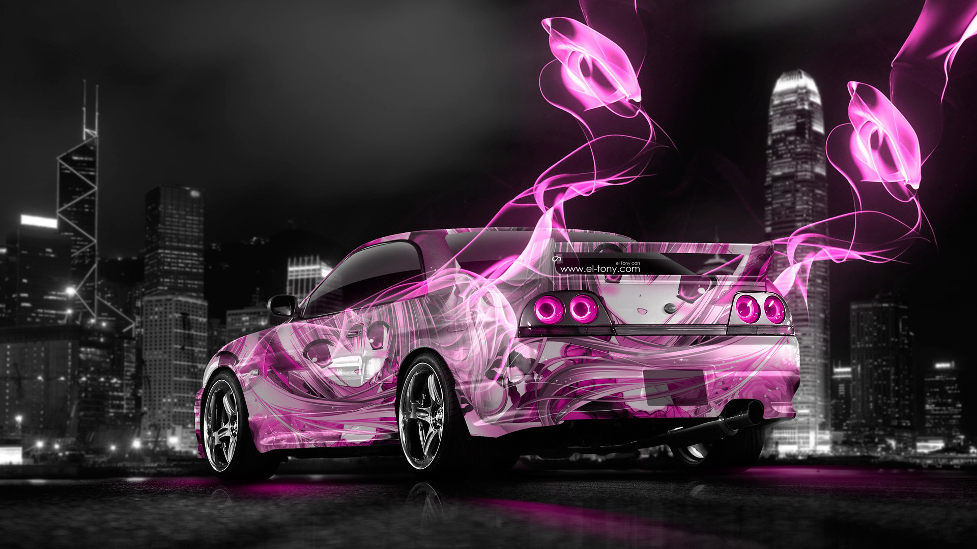 R33 Gtr Wallpapers 66 Background Pictures Pink Nissan Skyline R34 See More
