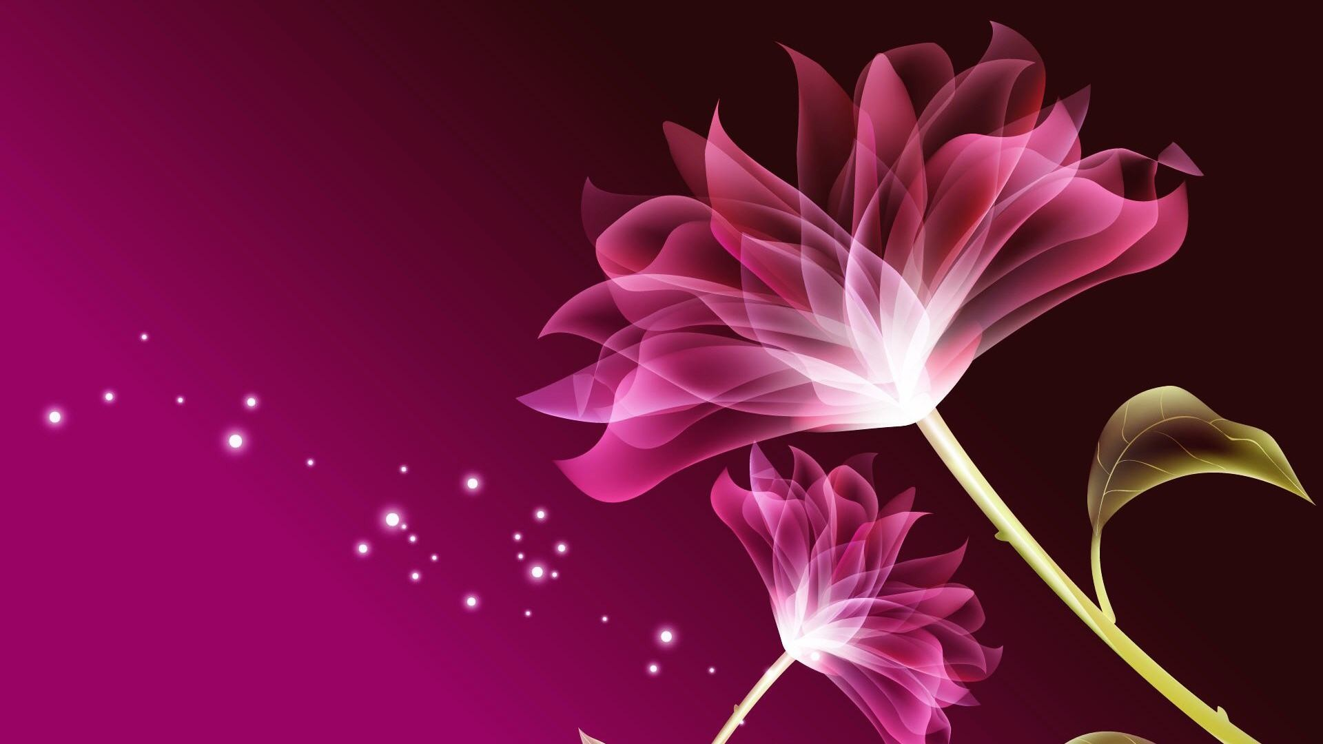 Pink flower desktop wallpapers 69 background pictures 1920x1080 bows satin shiny flowers lilies sparkles ribbons stars pink flower desktop wallpaper hd izmirmasajfo