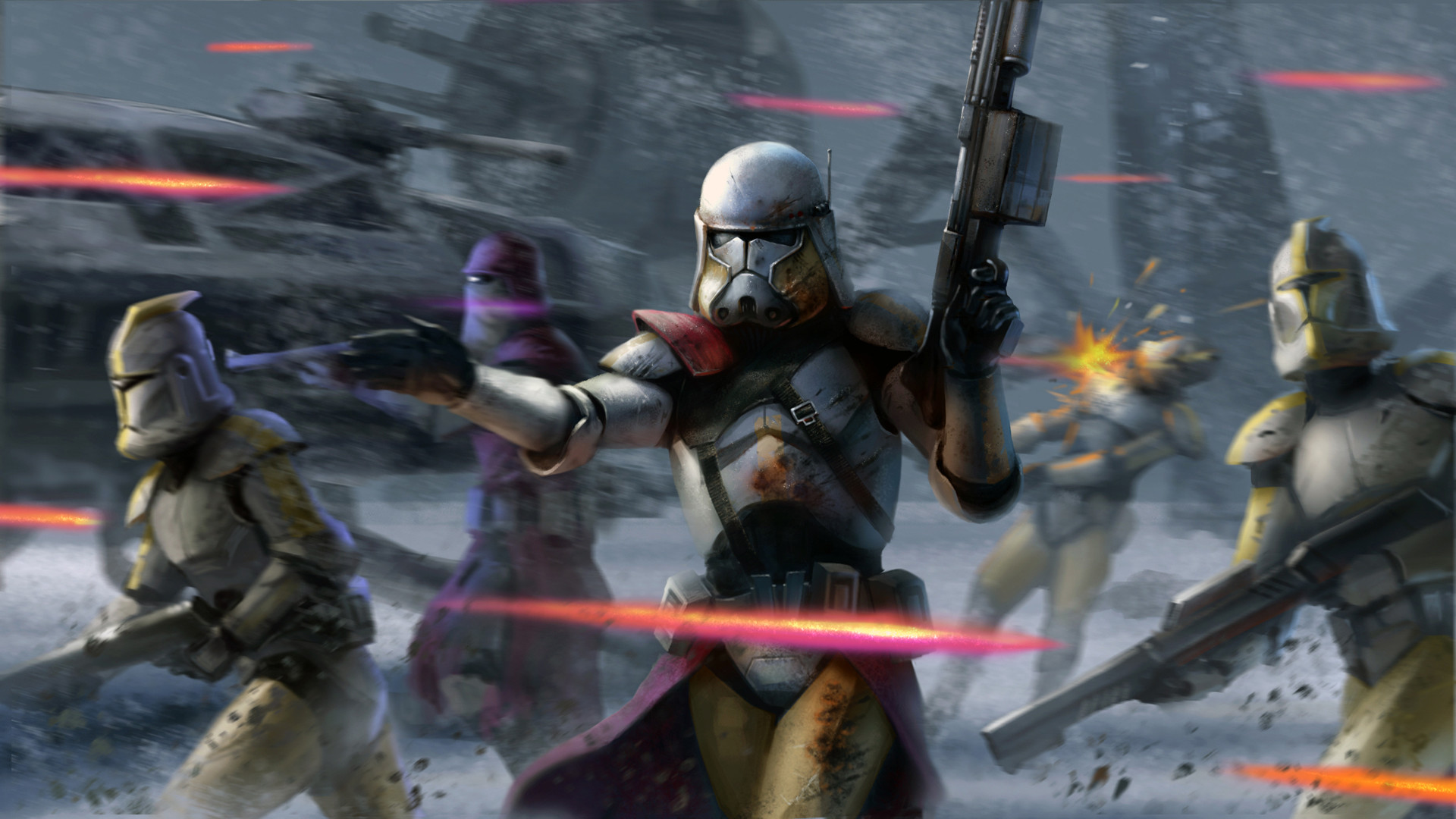 My Free Wallpapers Star Wars Wallpapers Jango Fett And The Clones