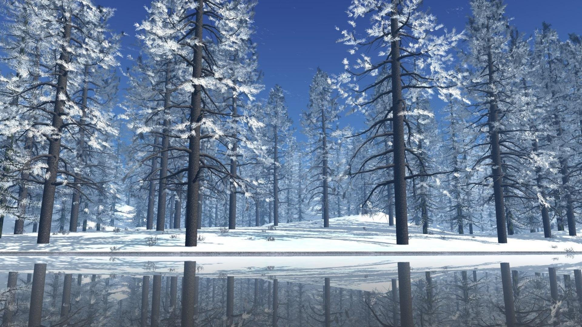 Christmas Winter Scenes Wallpapers (51+ background pictures)