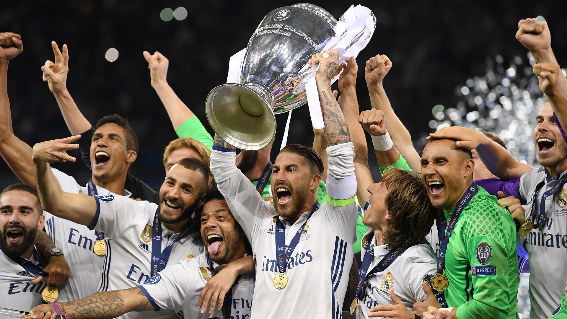 1920x1080 1920x1080 Real Madrid celebrating Champions League · Download · Real Madrid Widescreen Wallpapers
