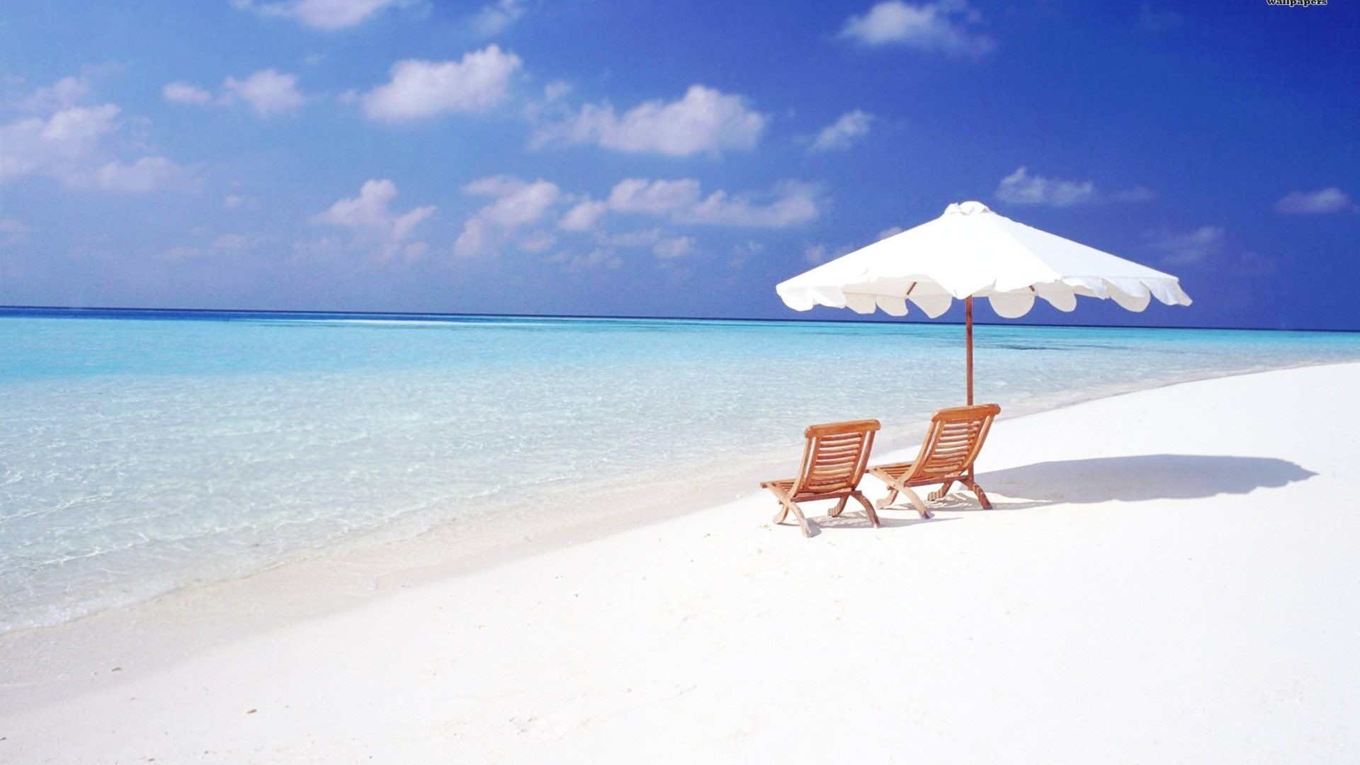 1920x1080 ... white sand shade nature clouds paradise maldives chairs shore wallpaper beaches.
