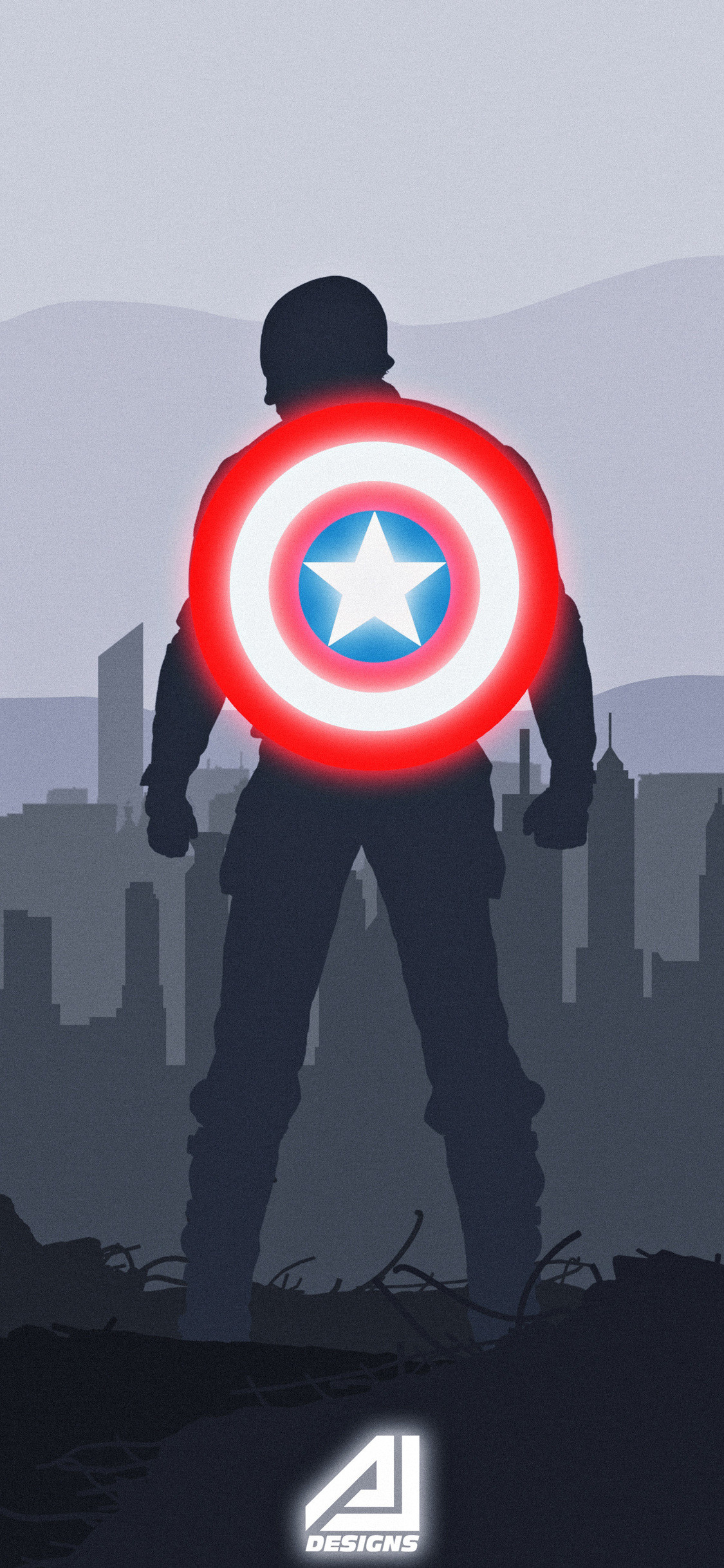 Captain America Logo Wallpapers (80+ background pictures)