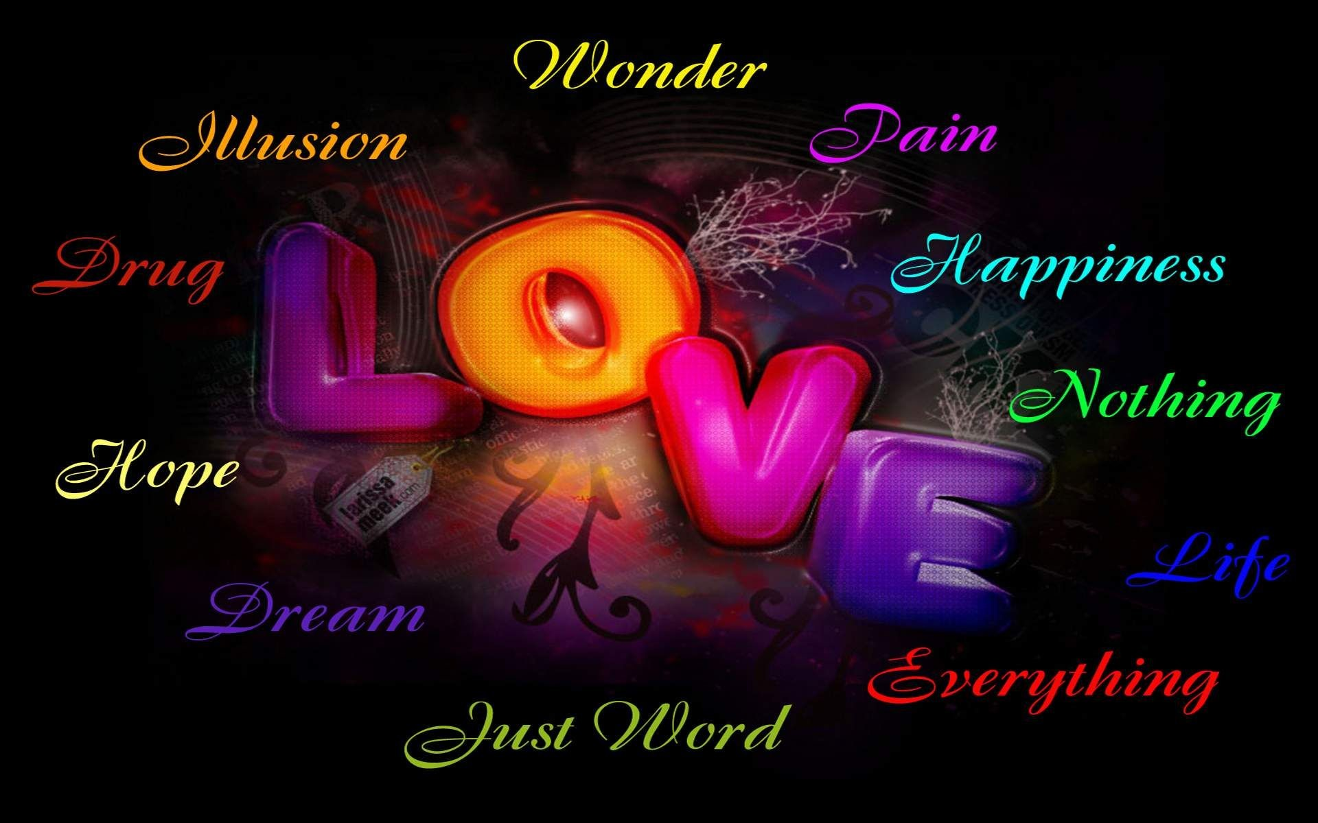 X Love Words Wallpapers A  Love Word Wallpapers  Wallpapers Adorable