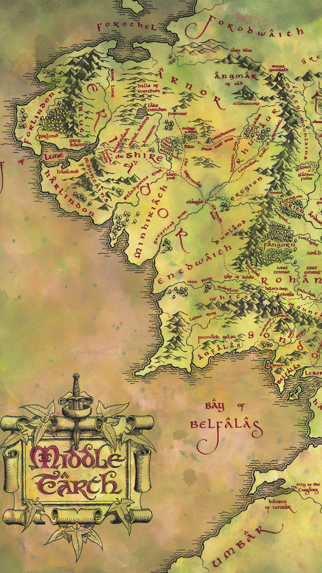 Map of middle earth wallpapers 49 background pictures - Middle earth iphone wallpaper ...