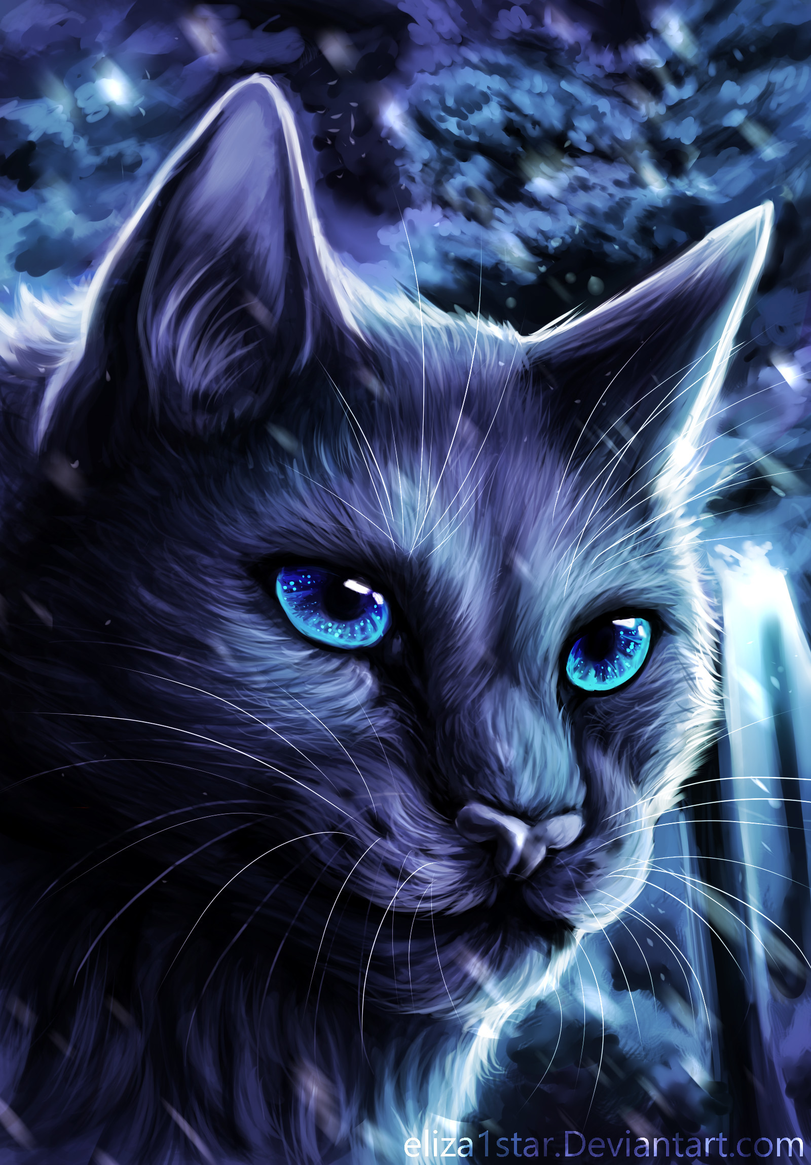 warrior cats wallpapers bluestar (67+ background pictures)