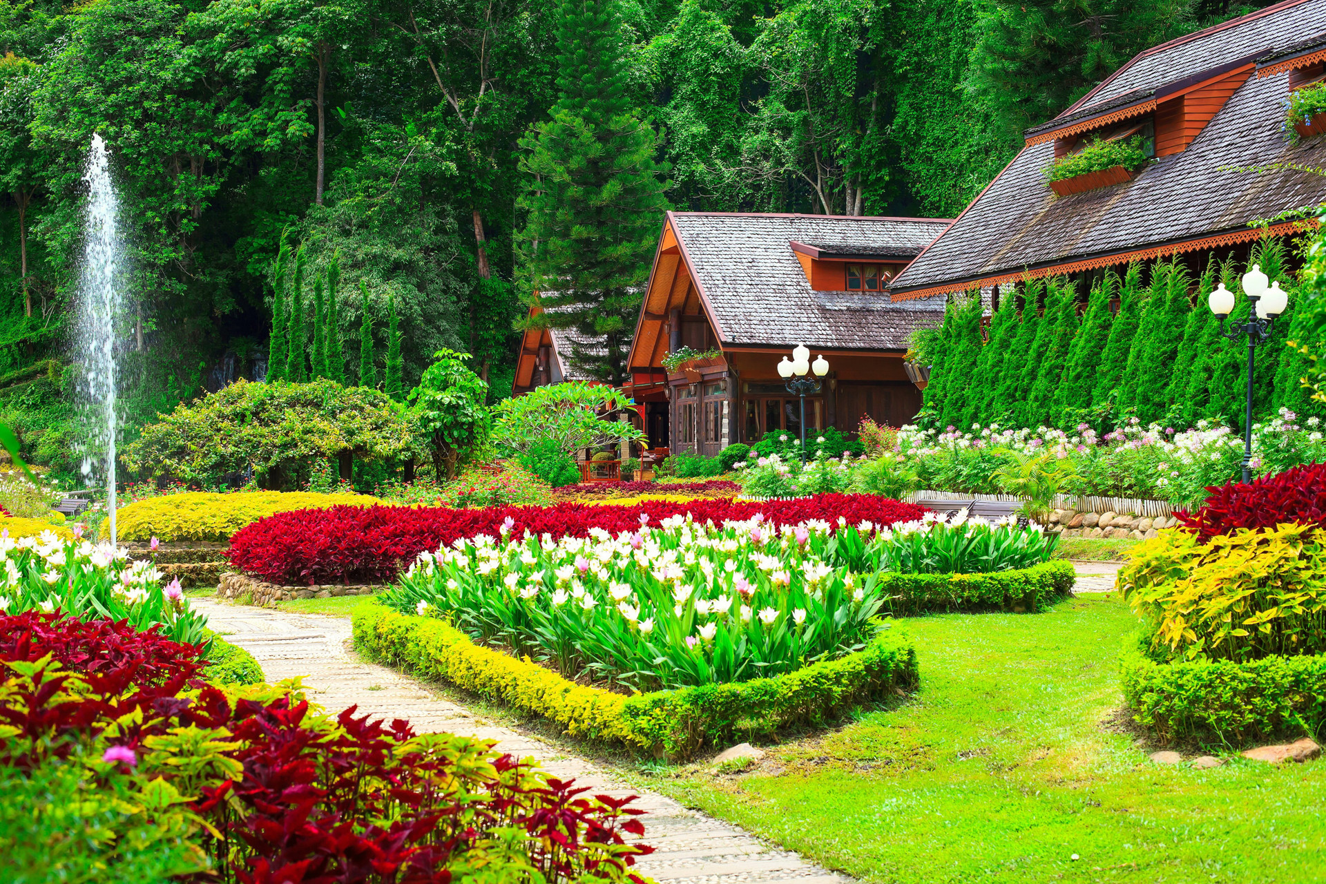 Flower Gardens Wallpapers 61 Background Pictures