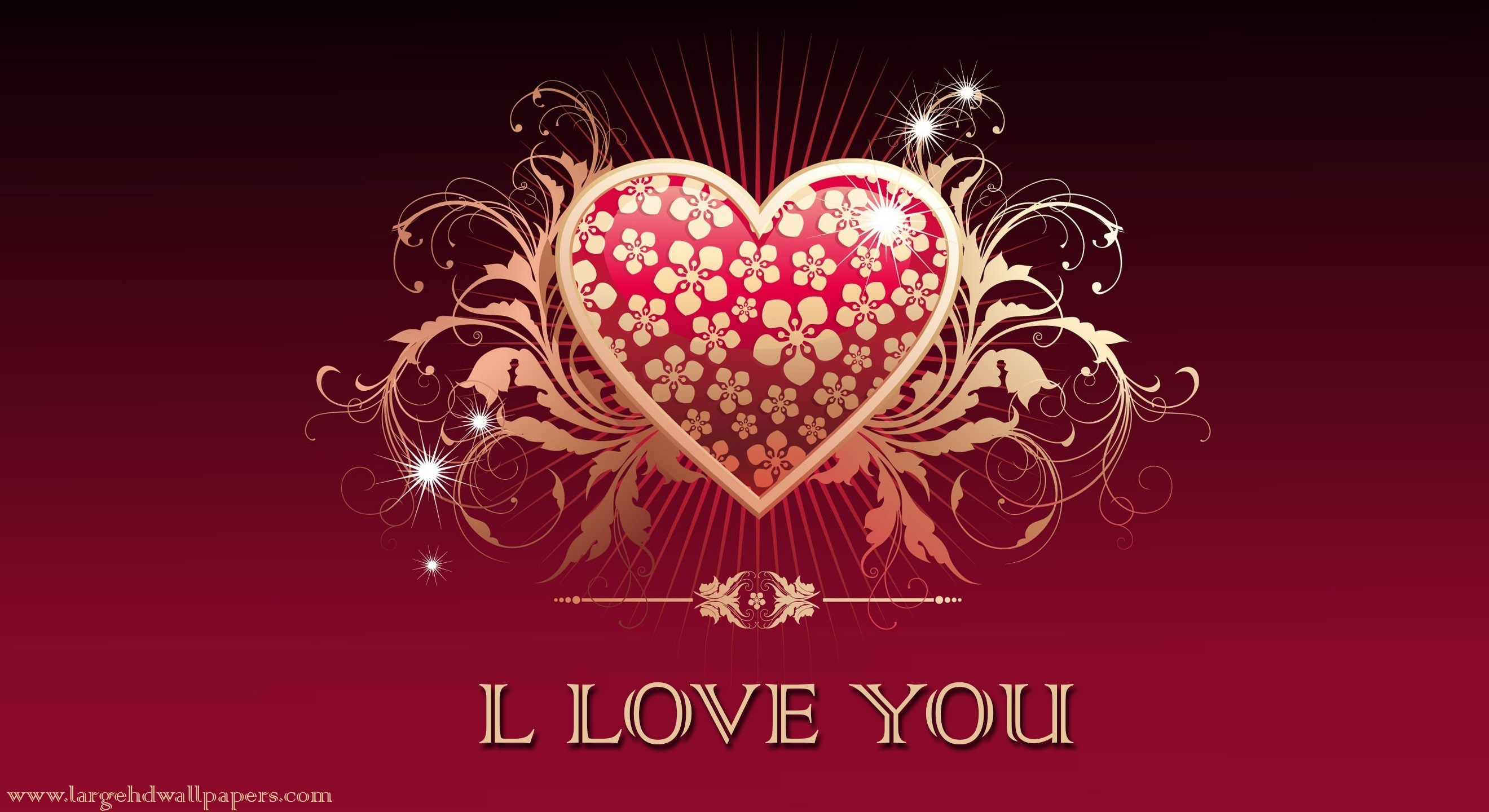 2640x1440 Royal Hearts I Love You Exclusive Full HD Best Wallpapers