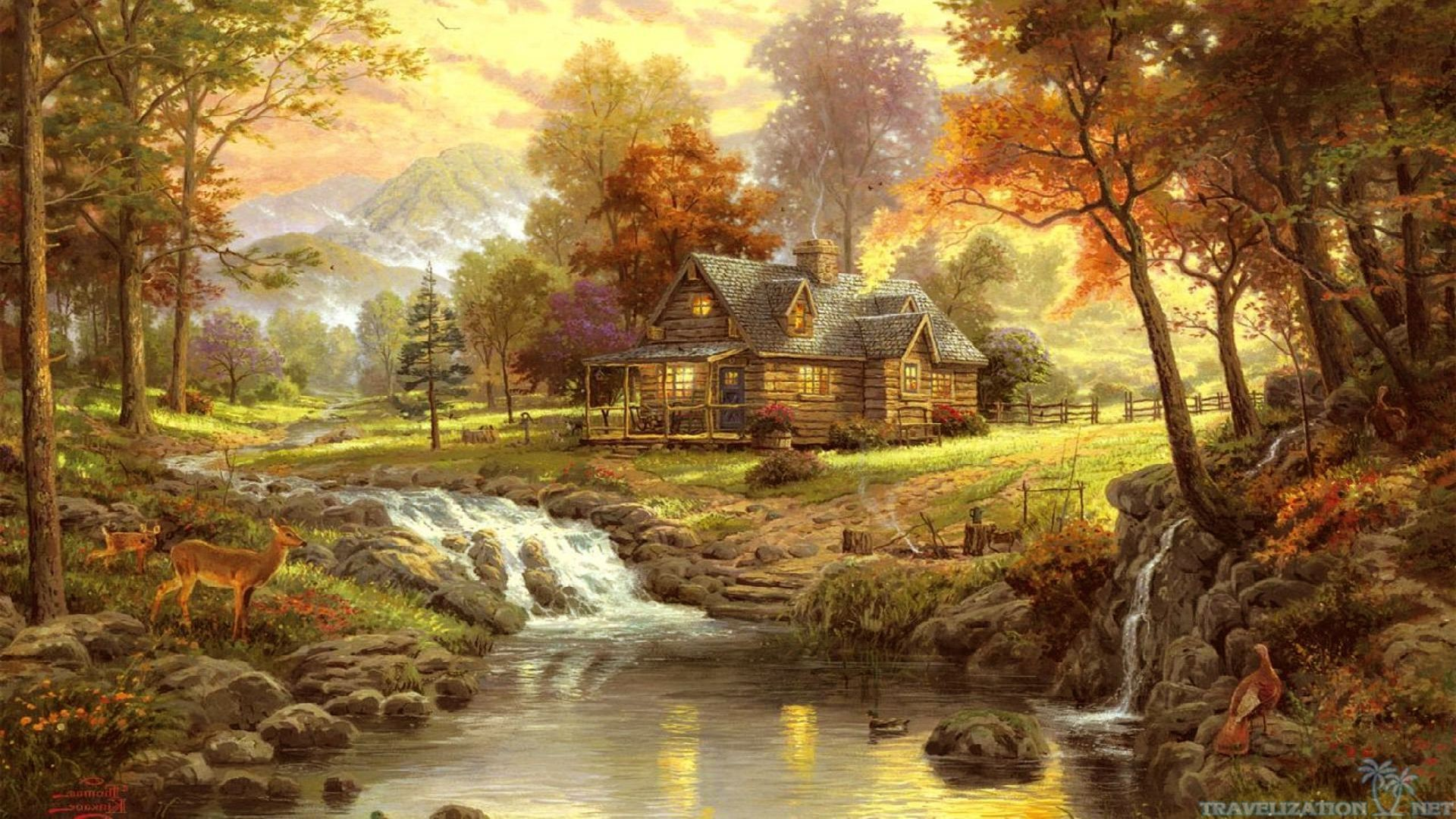 2560x1600 Thomas Kinkade wallpapers hd Â« Awesome Wallpapers