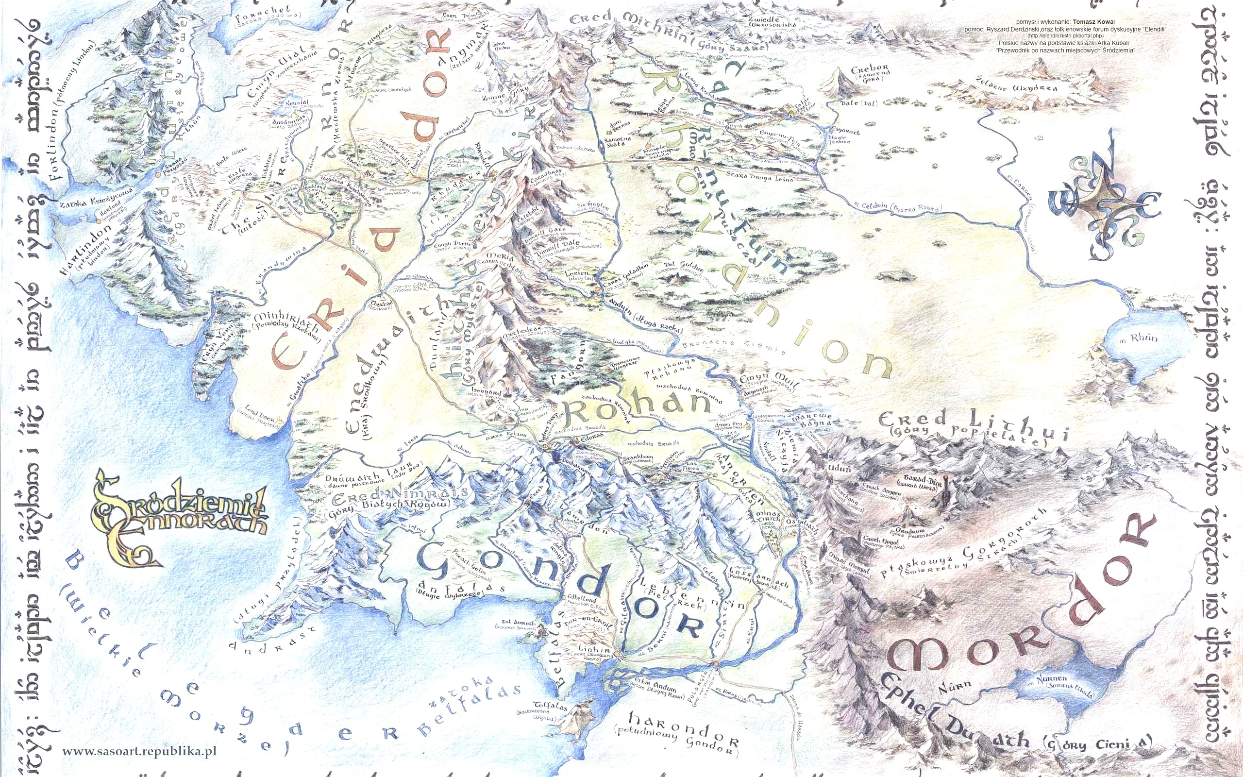 Map of Middle Earth Wallpapers (49+ background pictures)