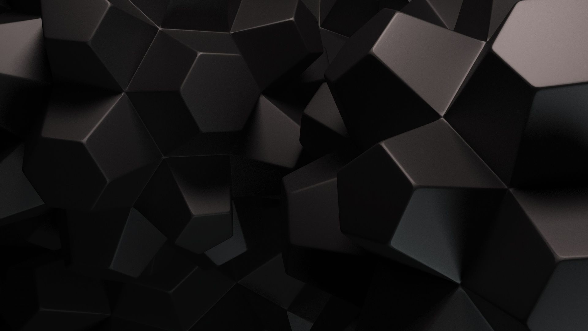 Purple Polygonal Abstract Background: Solid Black Wallpapers 1920X1080 (81+ Background Pictures