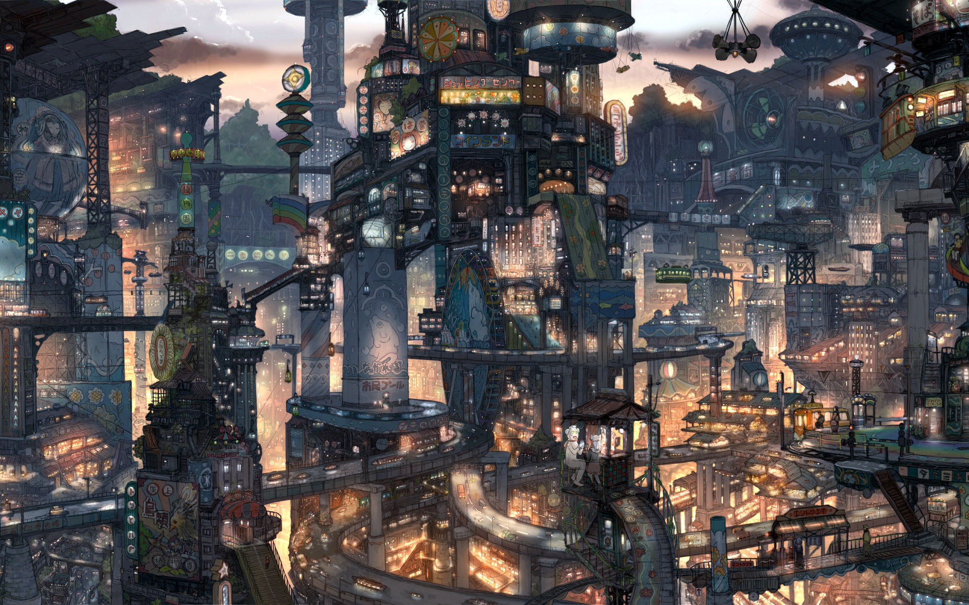 Anime City Wallpapers 73 Background Pictures