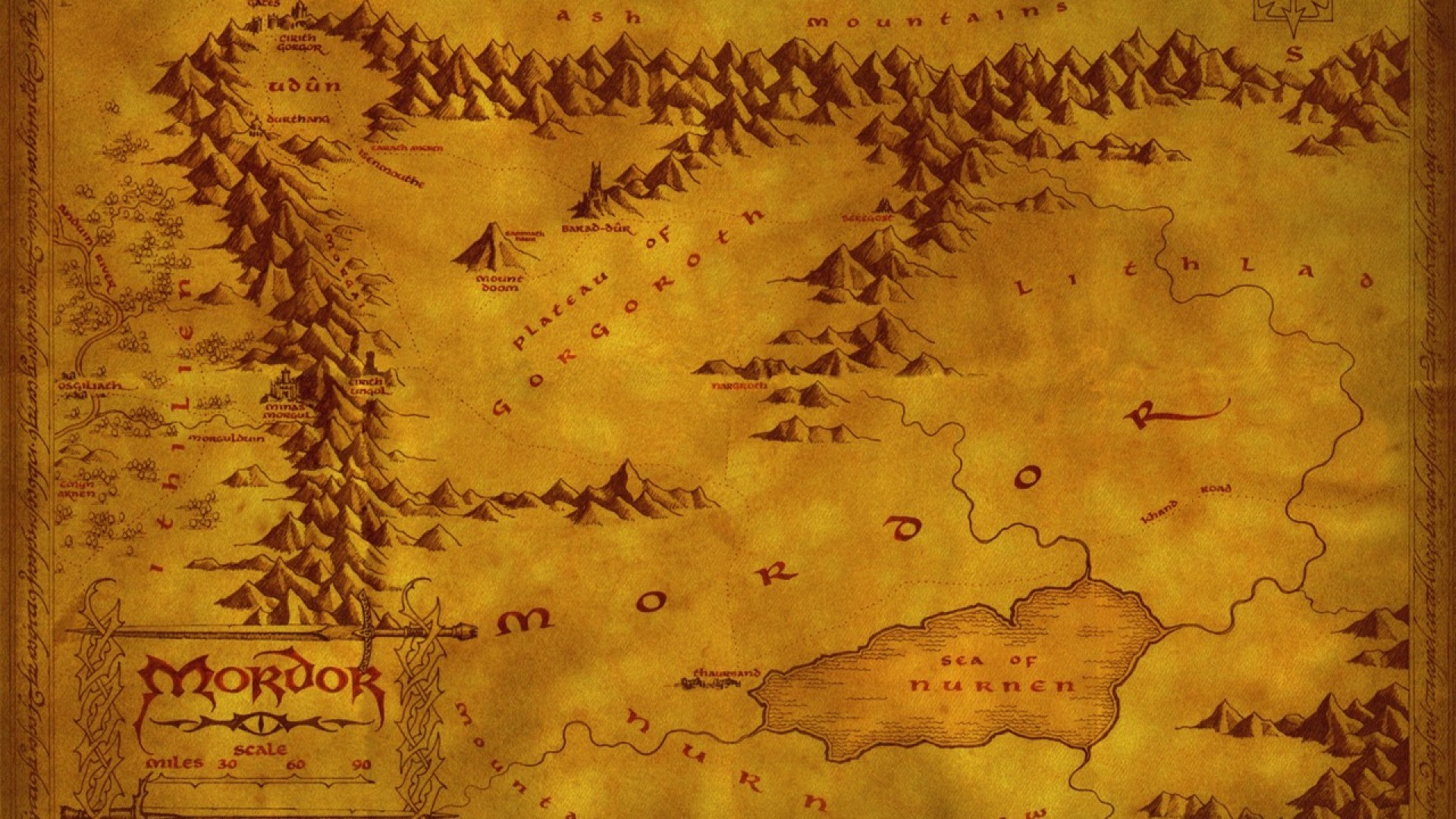 Map Of Middle Earth Wallpapers 49 Background Pictures