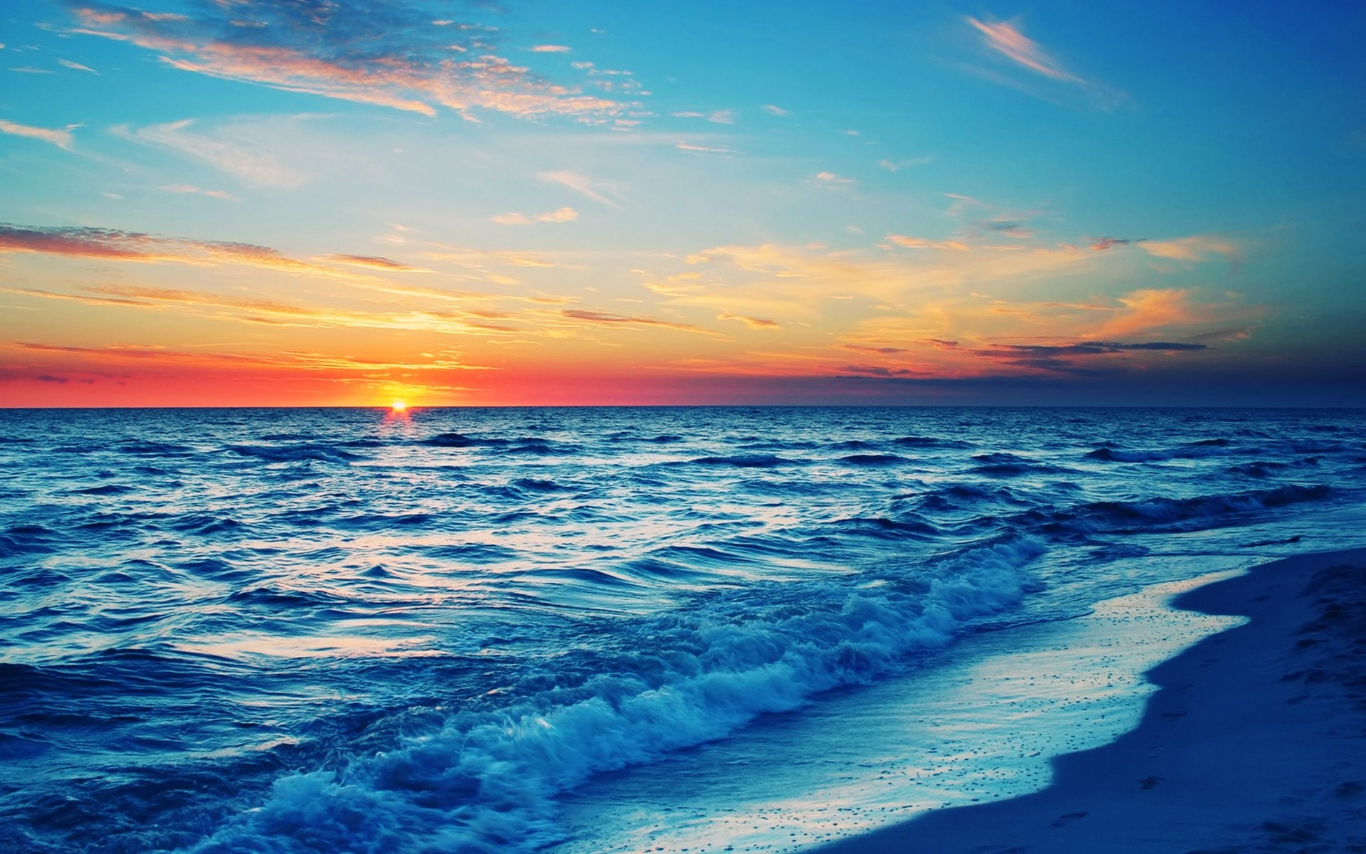 1920x1080 Top Collection of Beach Sunset Wallpapers: Beach Sunset Background 1920x1080 px for PC & Mac, Tablet, .