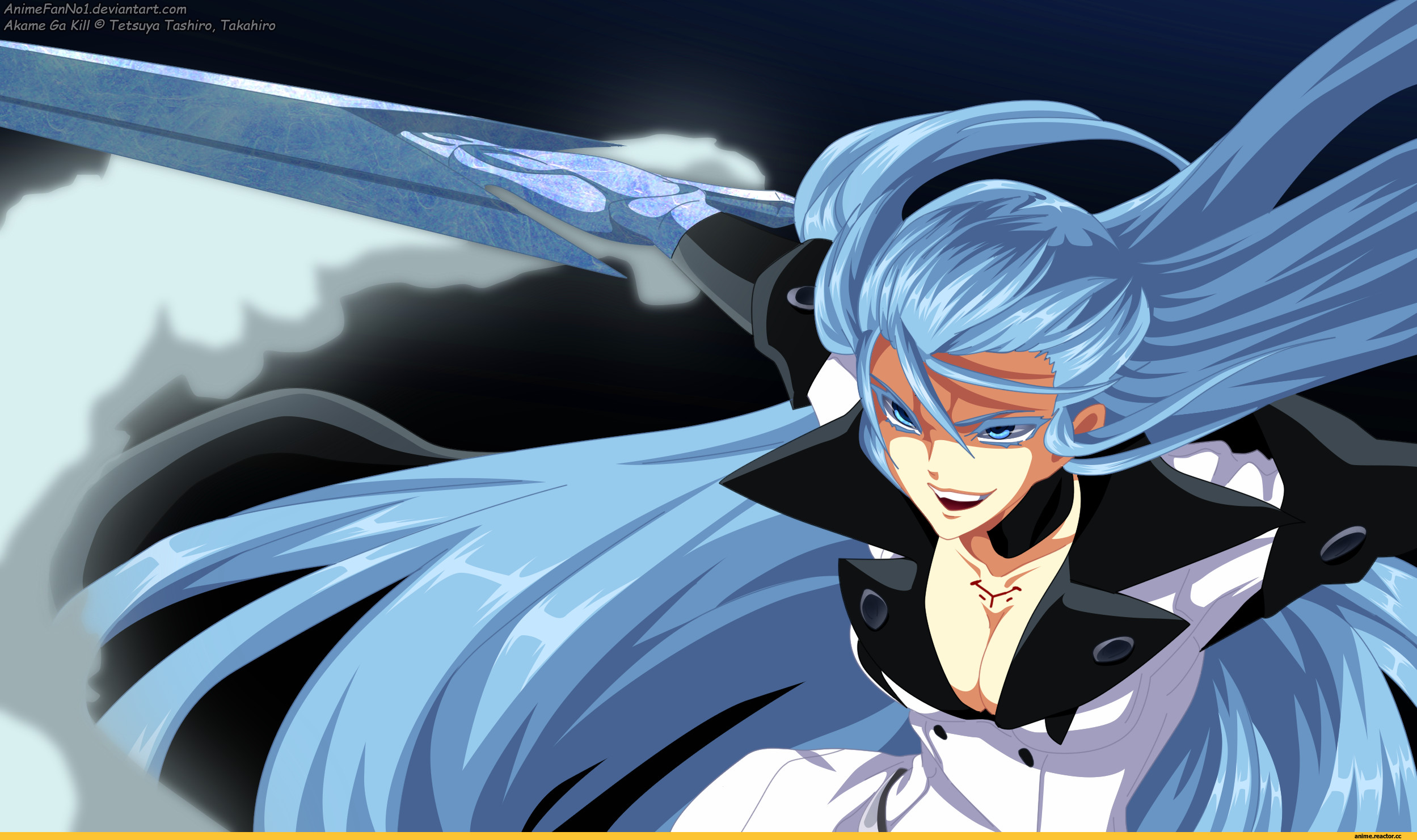 akame vs esdeath wallpaper