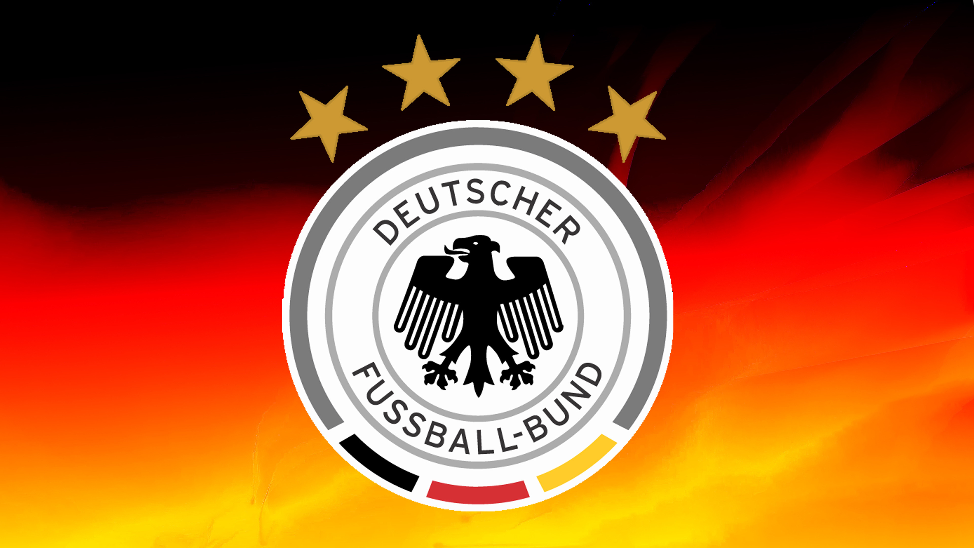 3840x2160 The Germany National Football Team Logo With Abstract Background A Wallpaper
