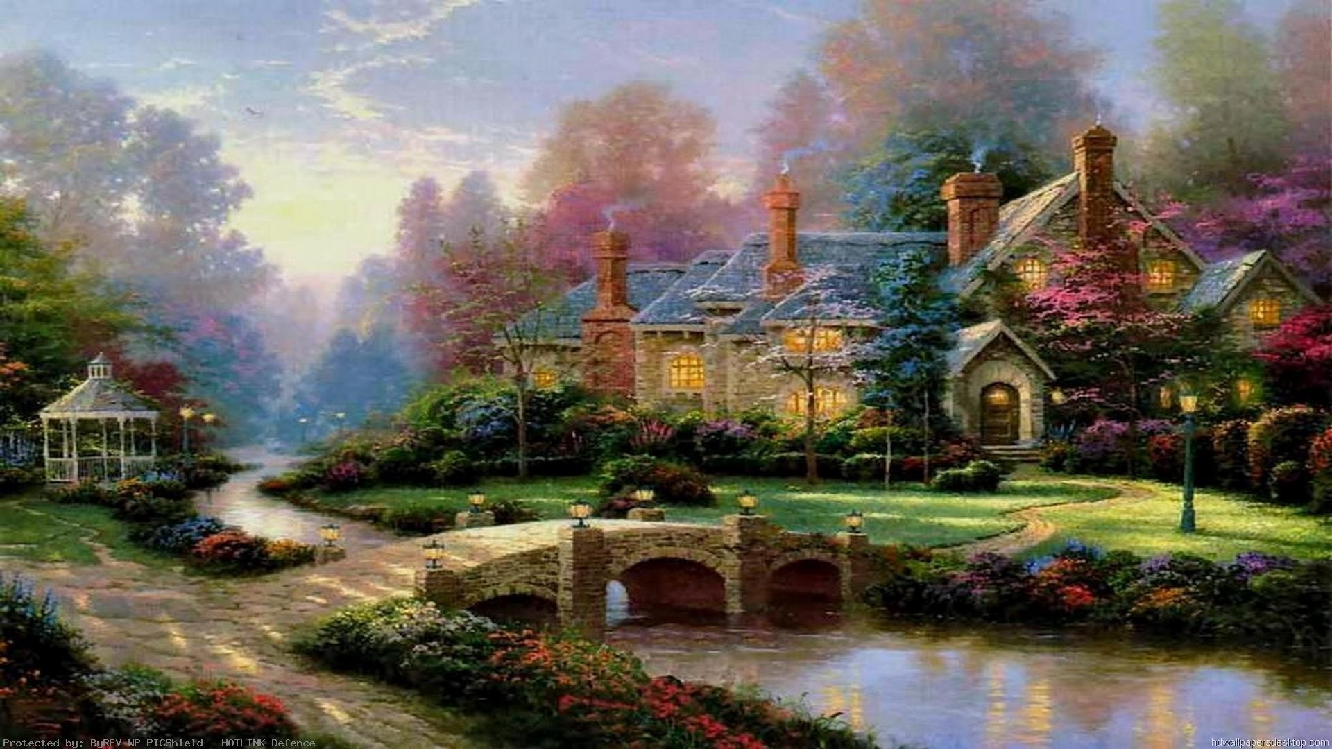 Thomas Kinkade Christmas Wallpapers 77 Background Pictures