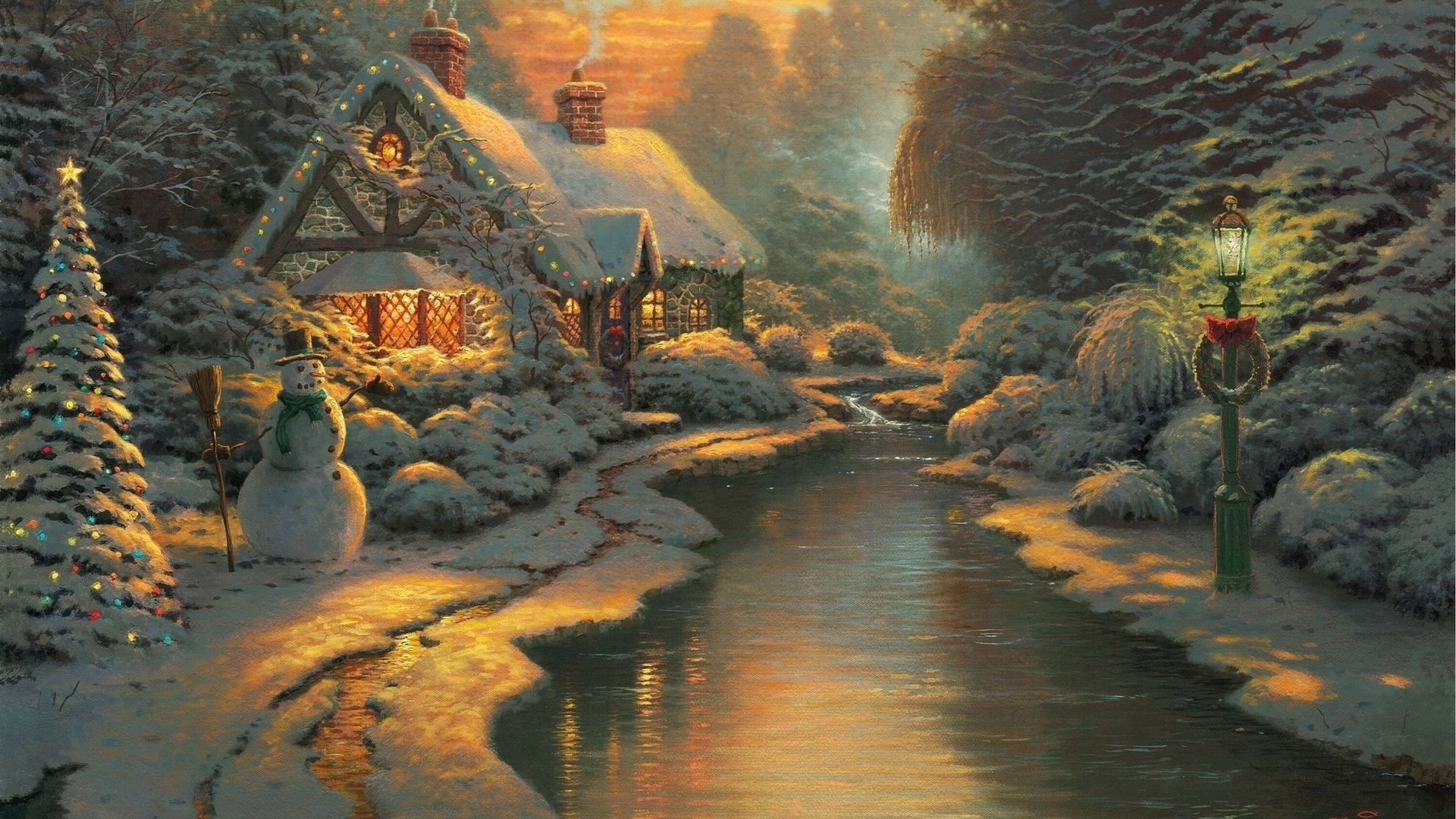 Thomas Kinkade Winter Wallpapers (66+ background pictures)