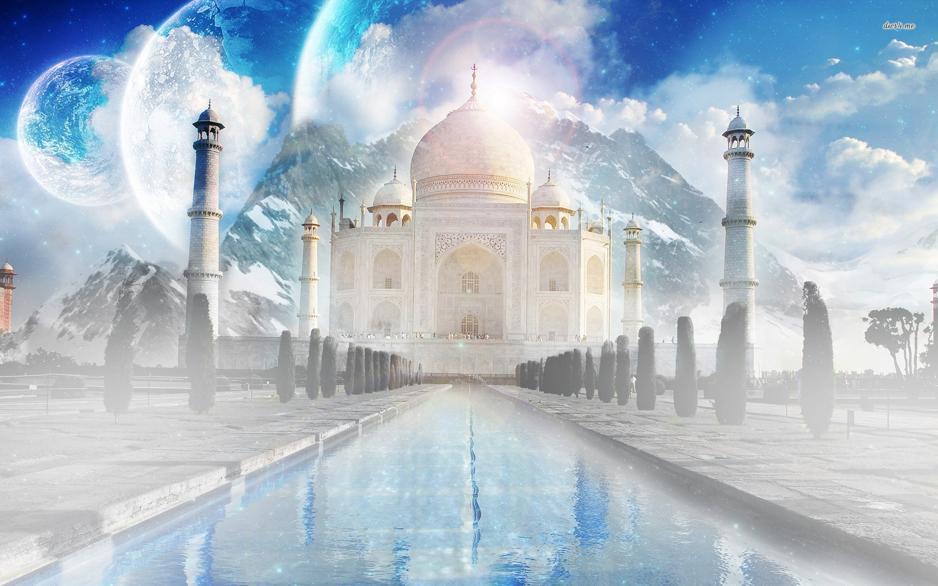 Taj Mahal At Night Wallpapers 3d 56 Background Pictures