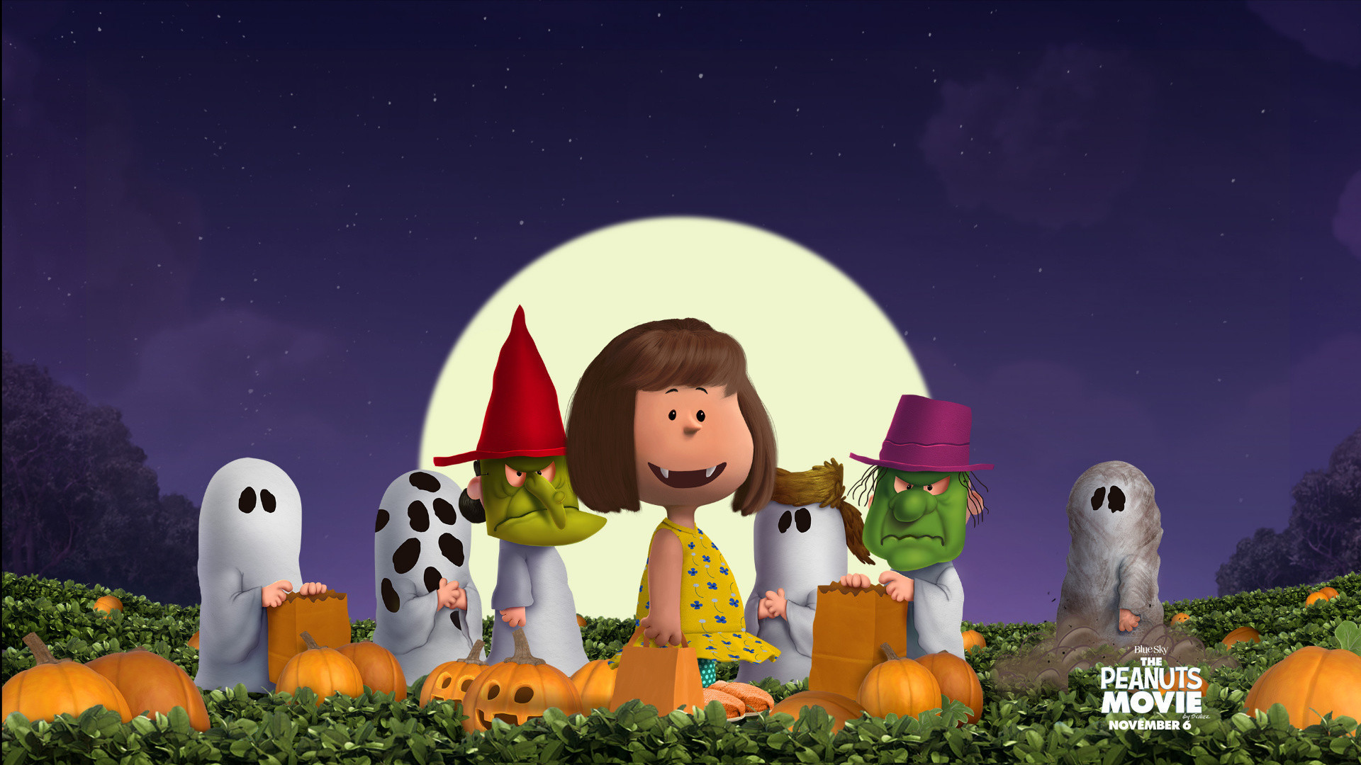 1431x2031 peanuts gang sparkling halloween