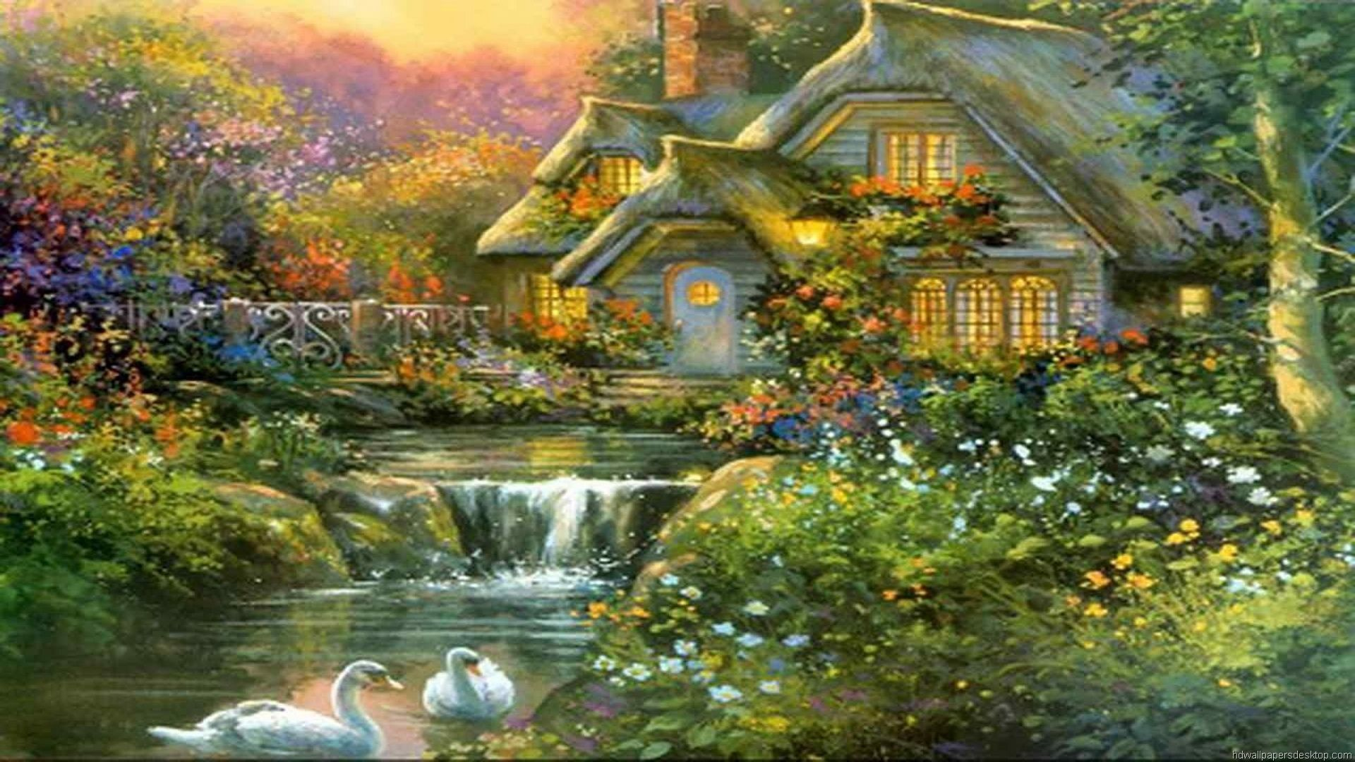 Thomas Kinkade Wallpapers For Desktop 84 Background Pictures