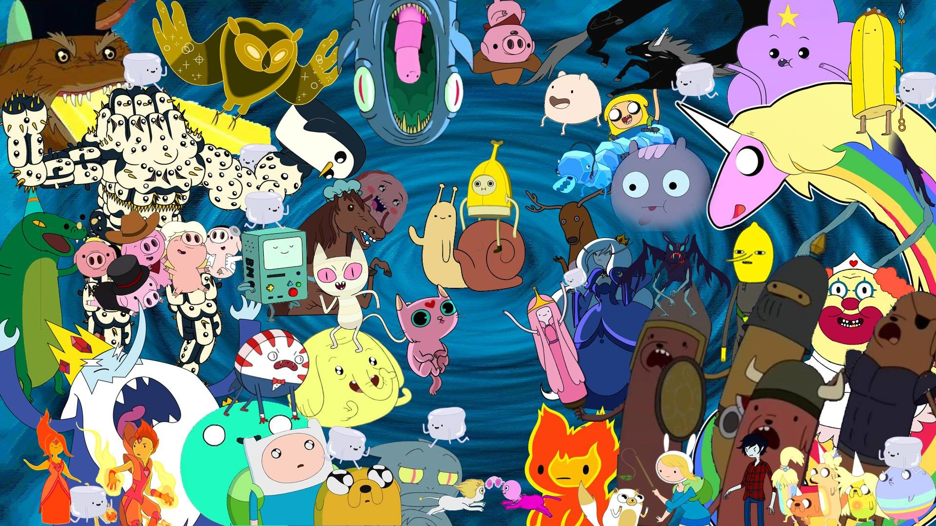 1920x1080 Adventure Time Characters Wallpaper