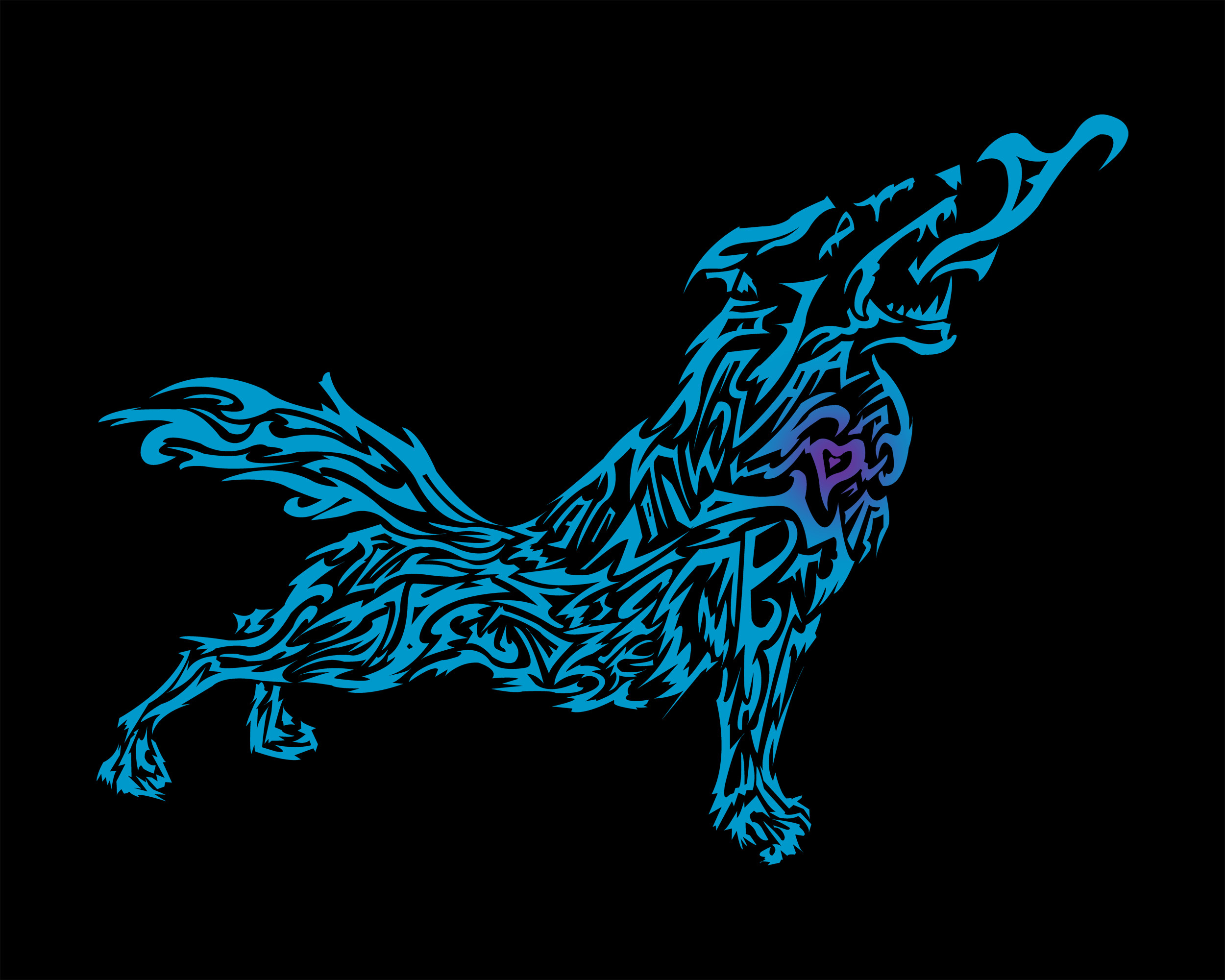 2500x2000 Tribal Wolf Wallpapers For Mac Desktop 2500 X 2000 547 KB