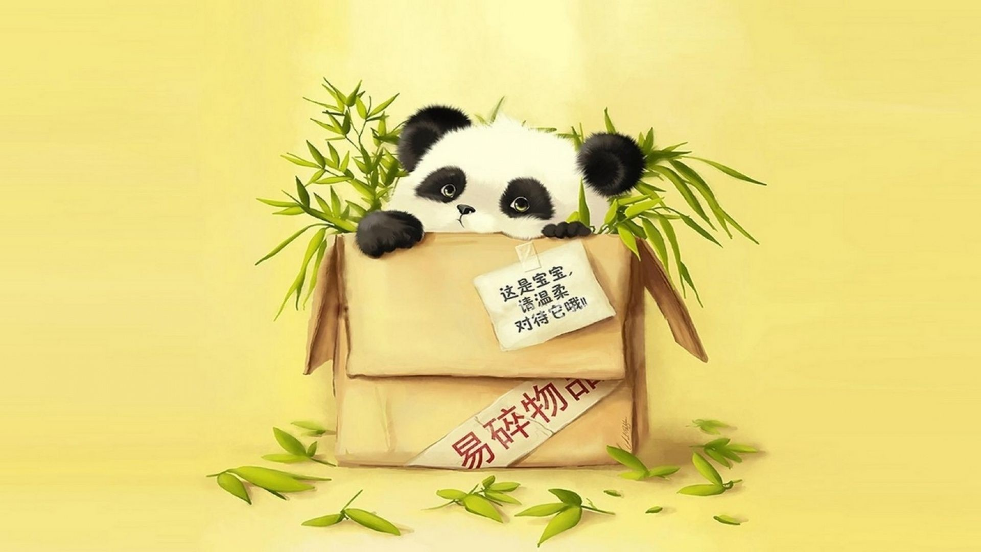 1920x1080 Funny Cute Baby Panda Wallpaper HD
