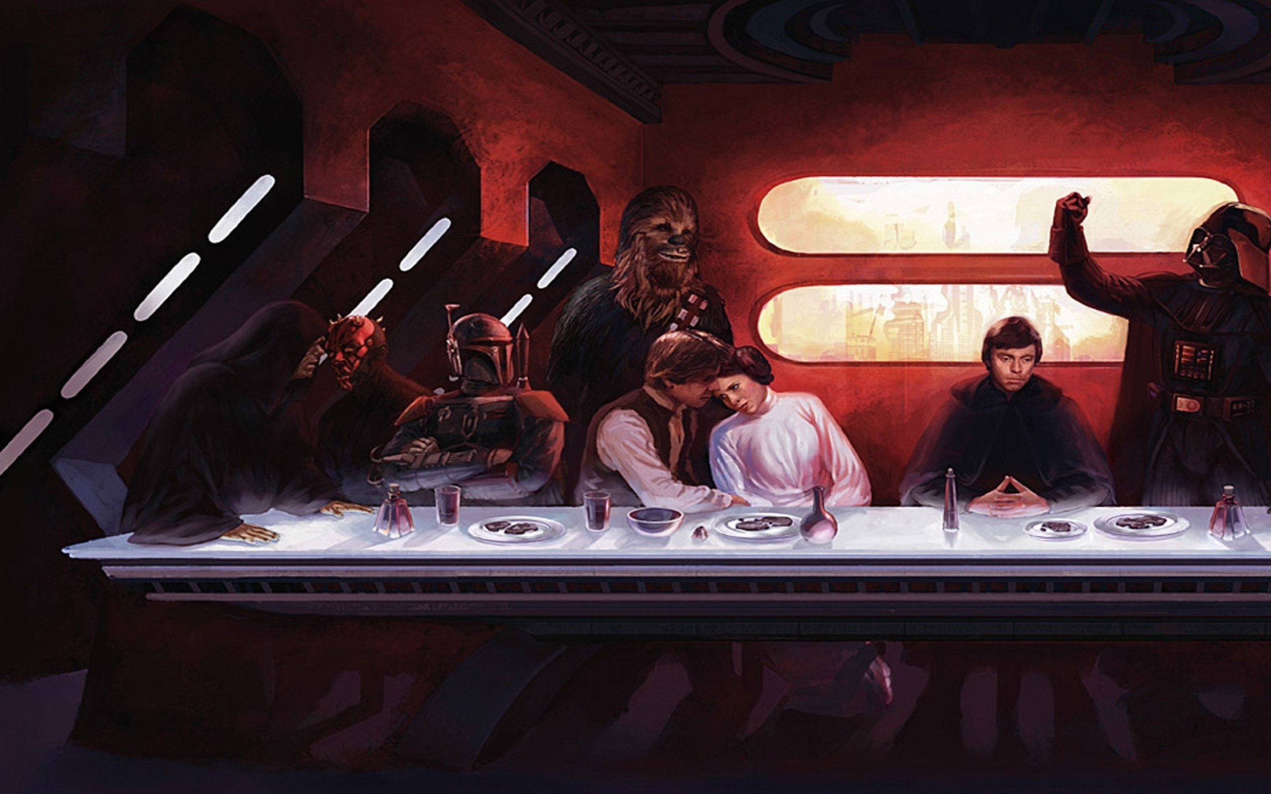 Star wars last supper wallpapers 64 background pictures - Last supper 4k ...