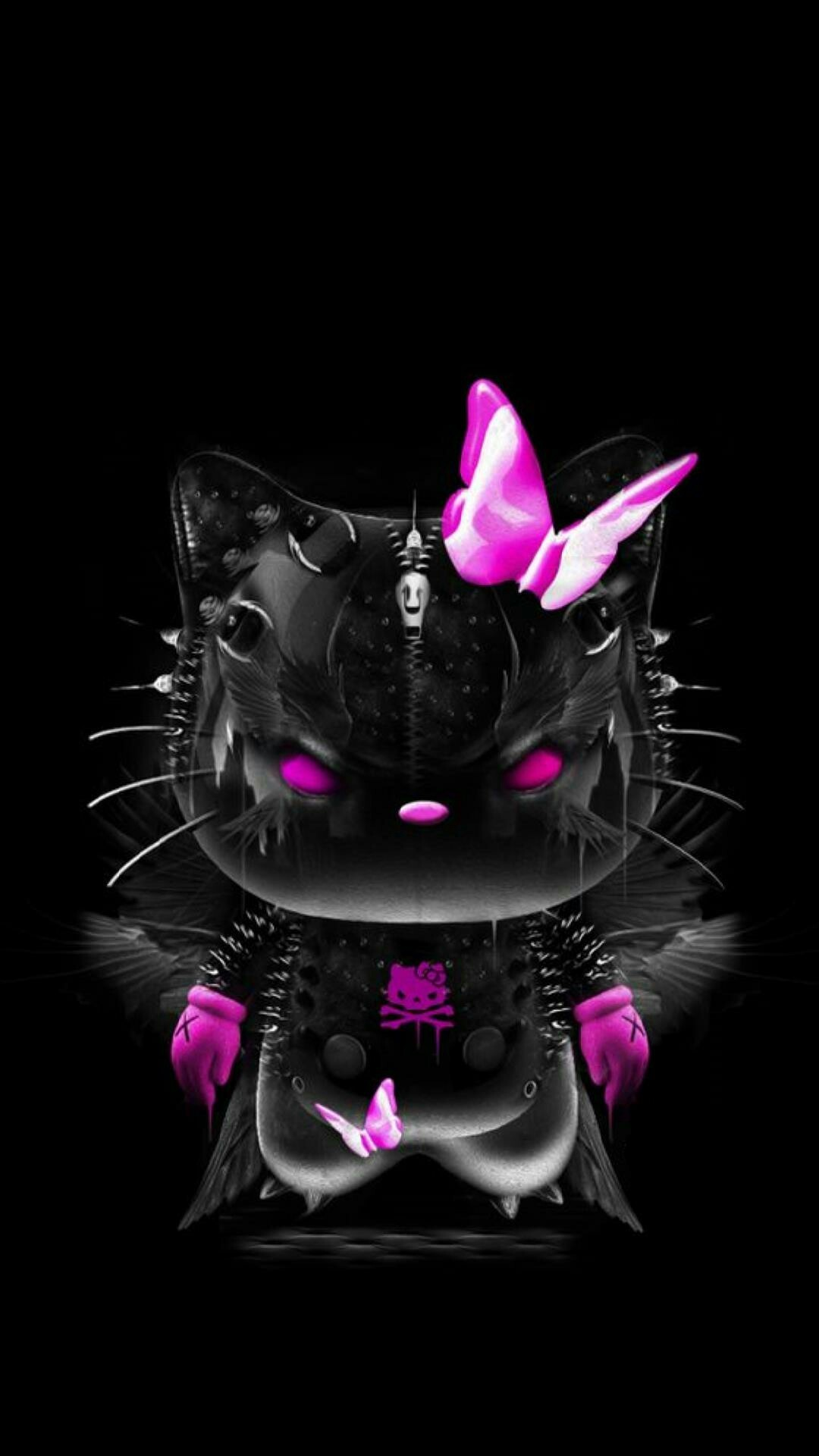 Black And Pink Hello Kitty Wallpapers 68 Background Pictures