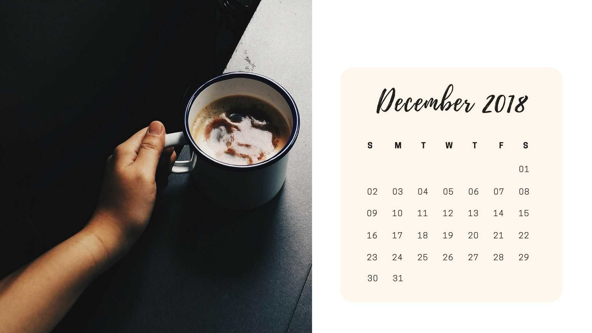 Desktop Wallpapers Calendar December 2018 74 Background Pictures
