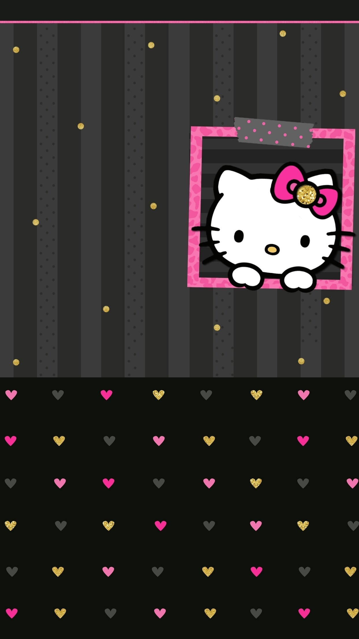 1920x1080 Hello Kitty Pink And Black Love Picture On Wallpaper 1080p HD